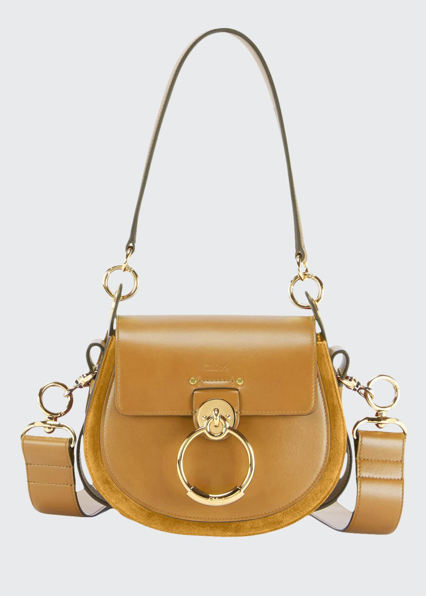 Image 1 of 5: Tess Small Leather/Suede Camera Crossbody Bag