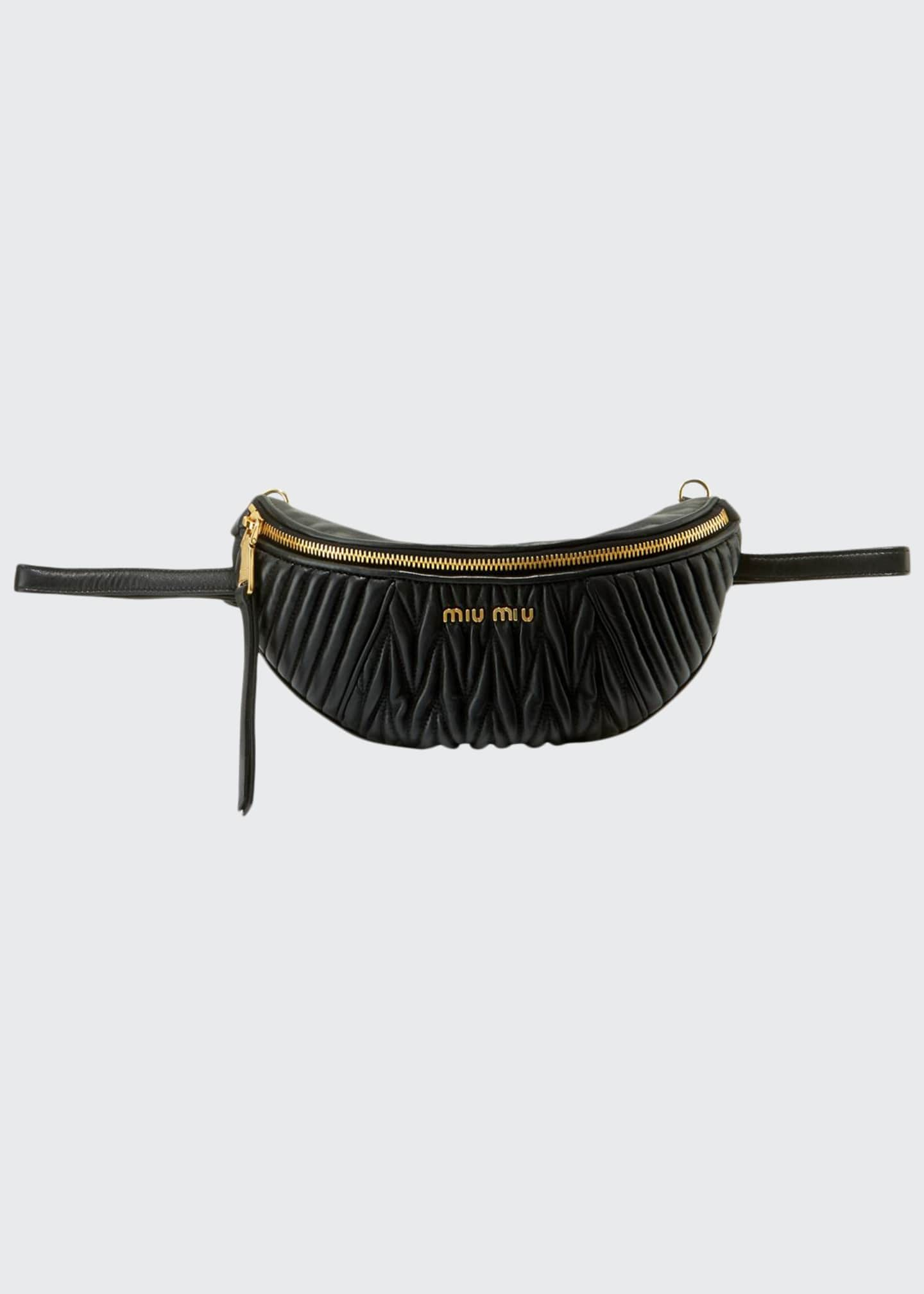 Miu Miu Matelass� Leather Belt Bag