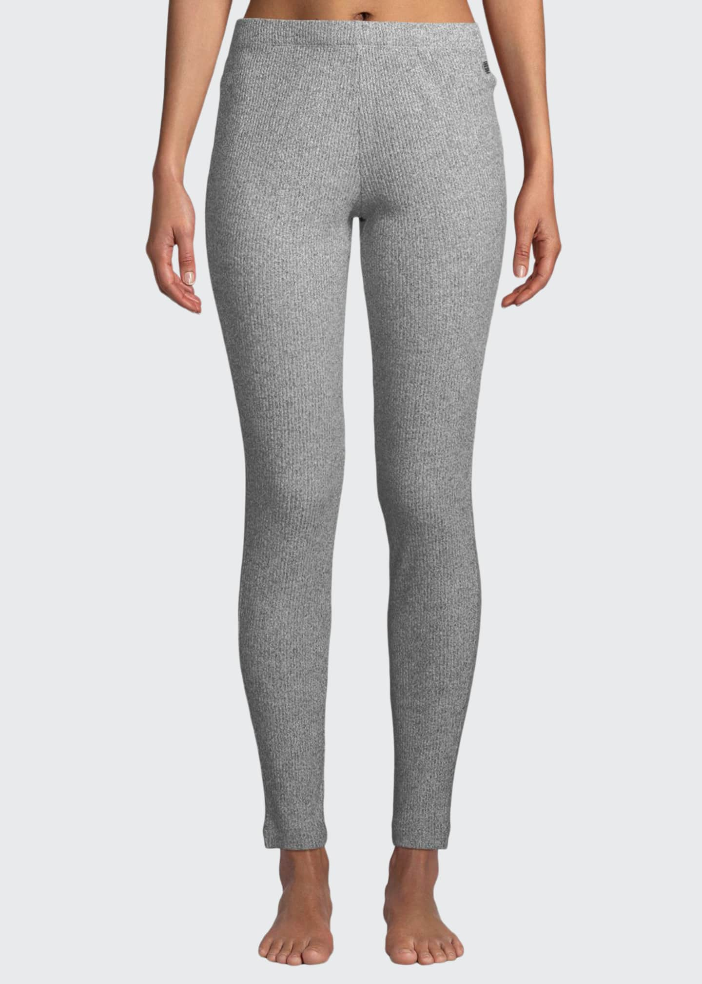 Image 1 of 3: Ulla Ribbed-Knit Lounge Leggings