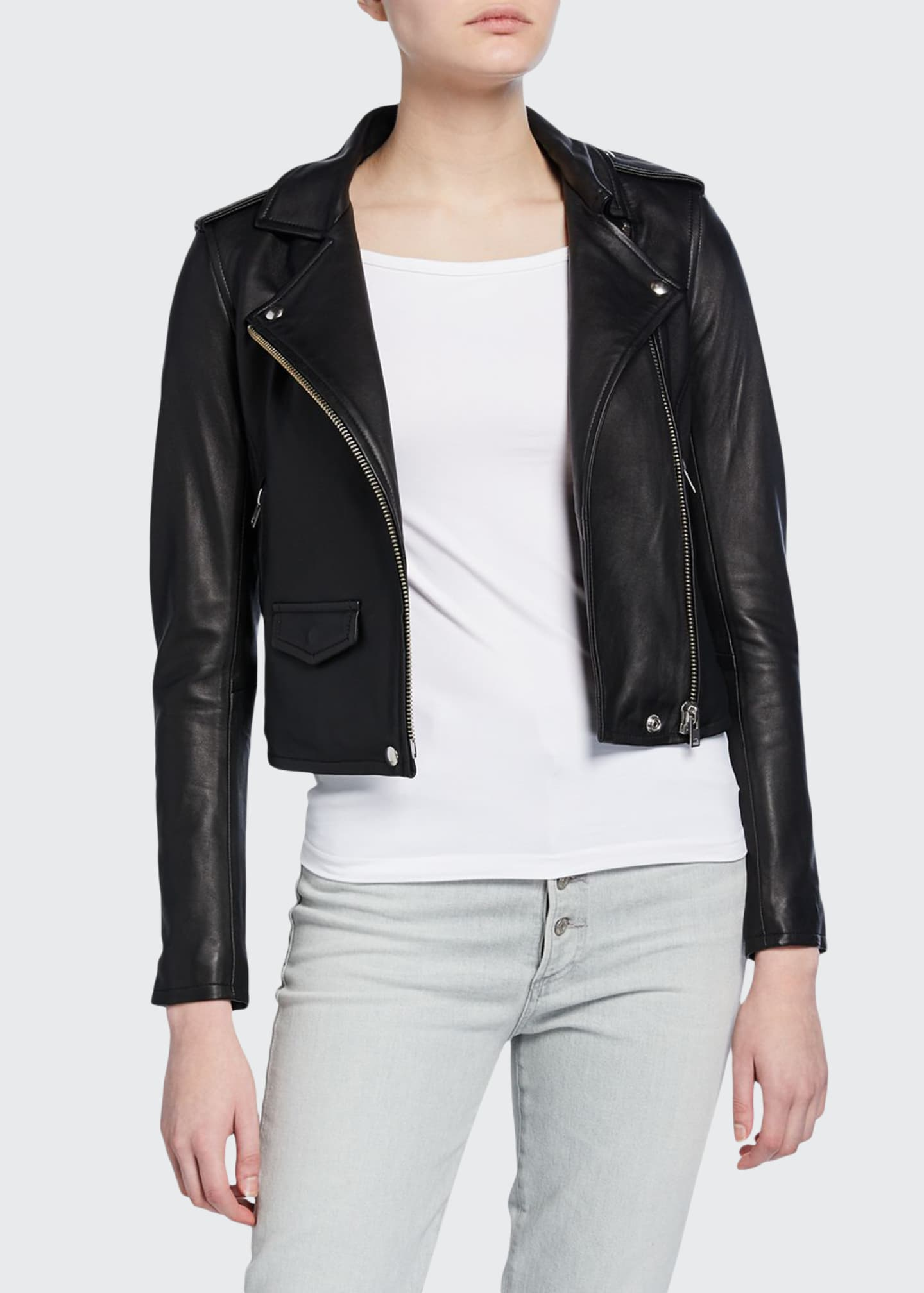 Iro Ashville Cropped Leather Jacket