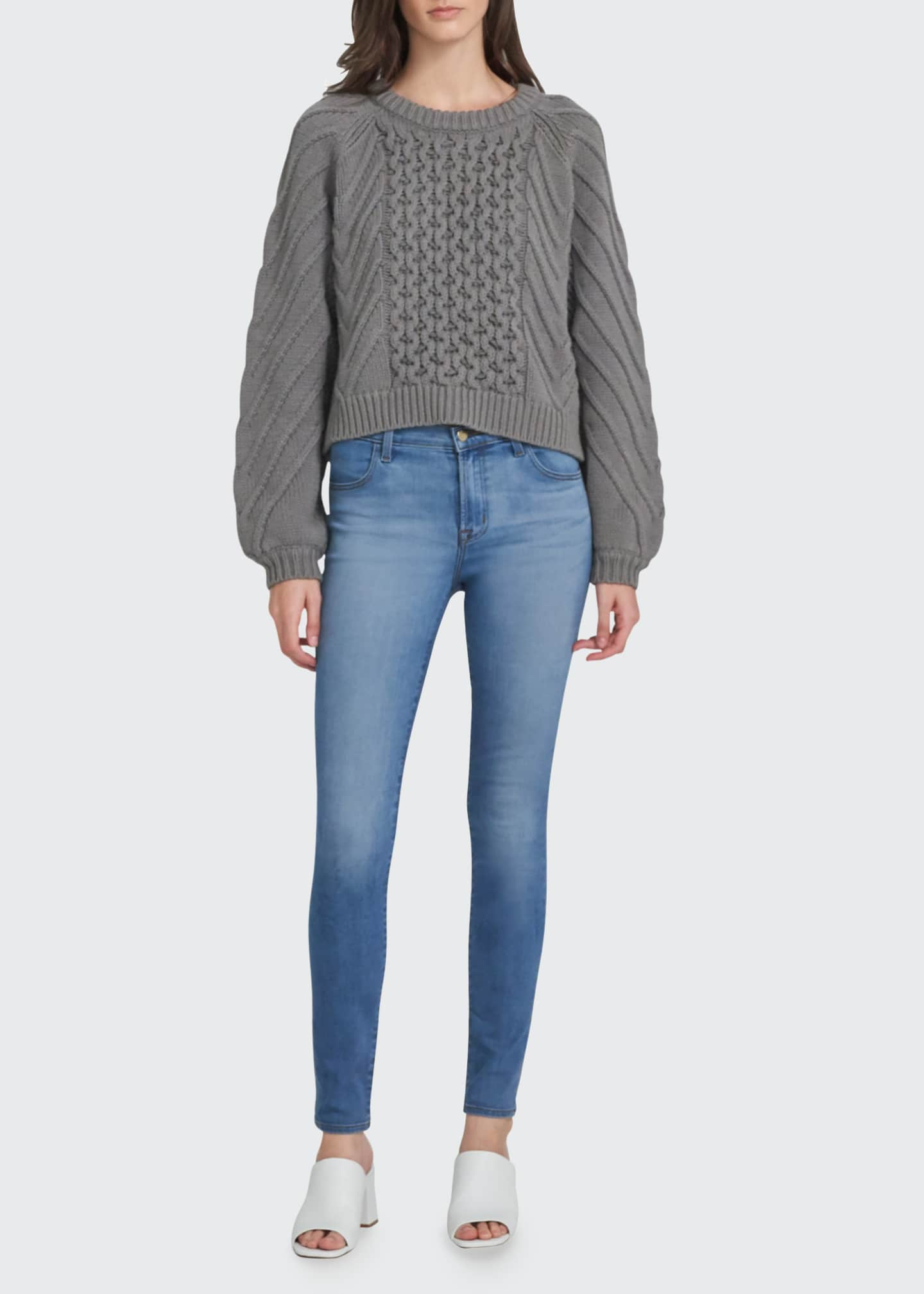 Image 1 of 3: Maria High-Rise Super-Skinny Jeans, Medium Blue