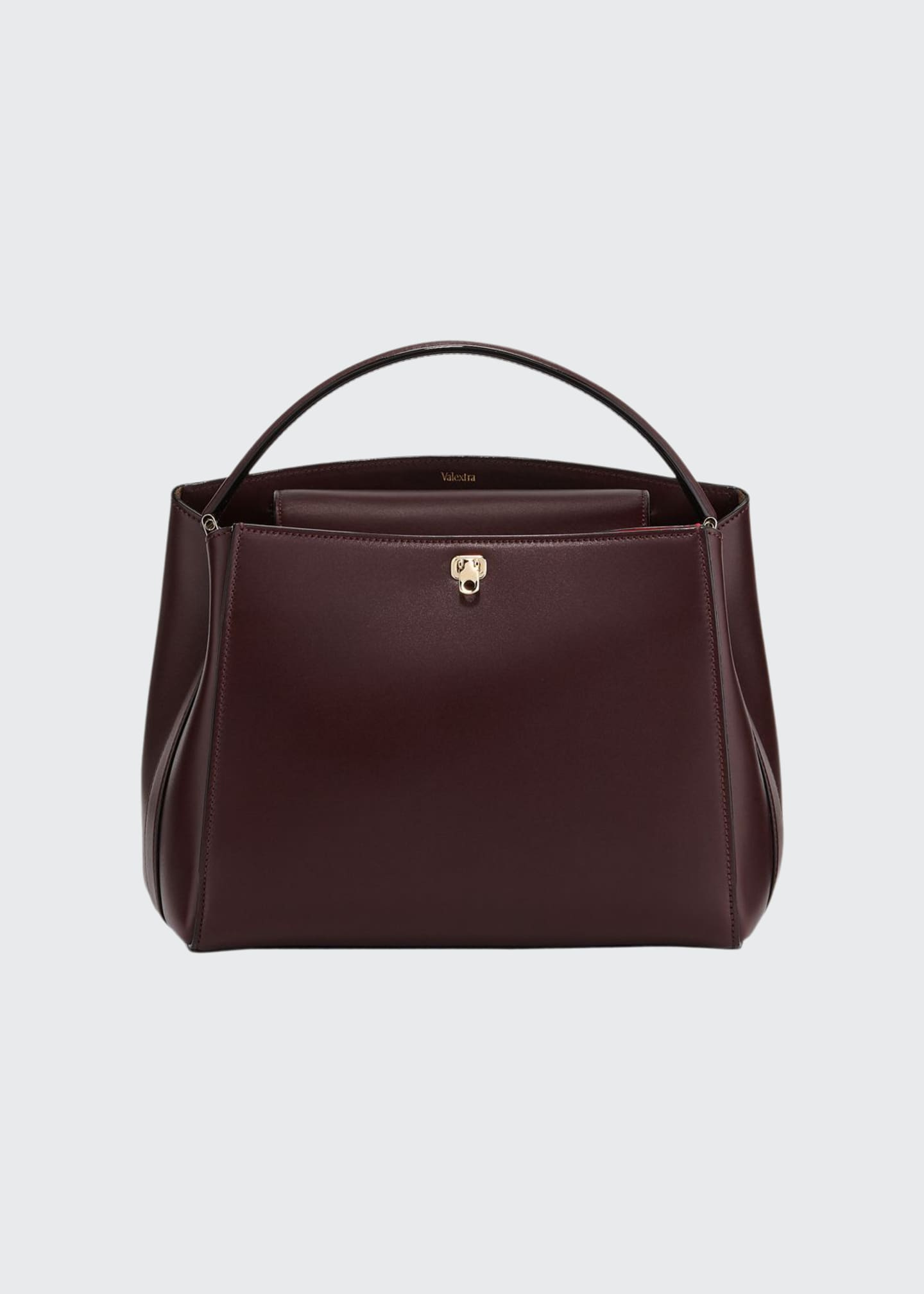 Image 1 of 3: Glossy Leather Brera Top Handle Bag