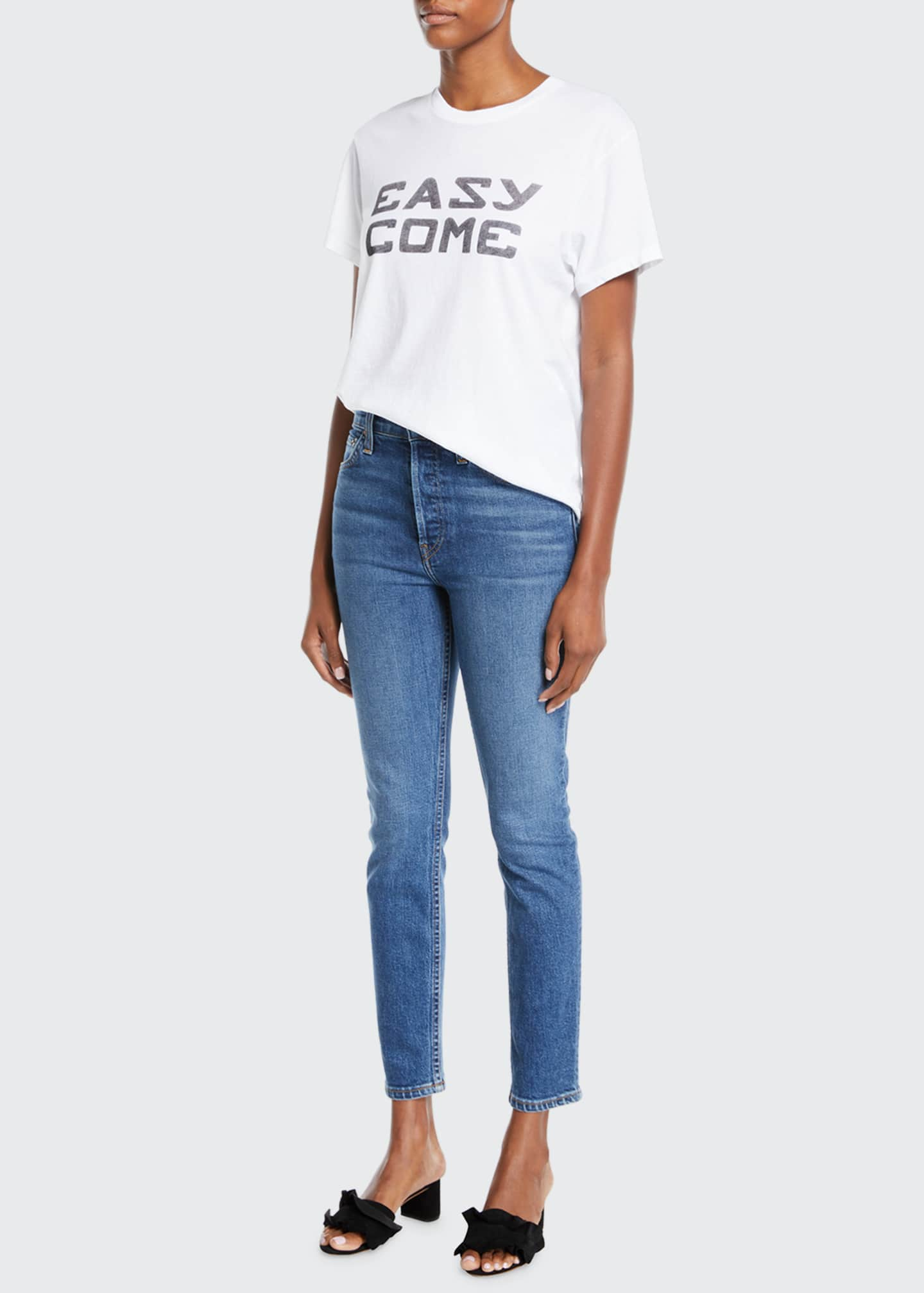 Image 1 of 3: High-Rise Skinny Ankle Cropped Jeans