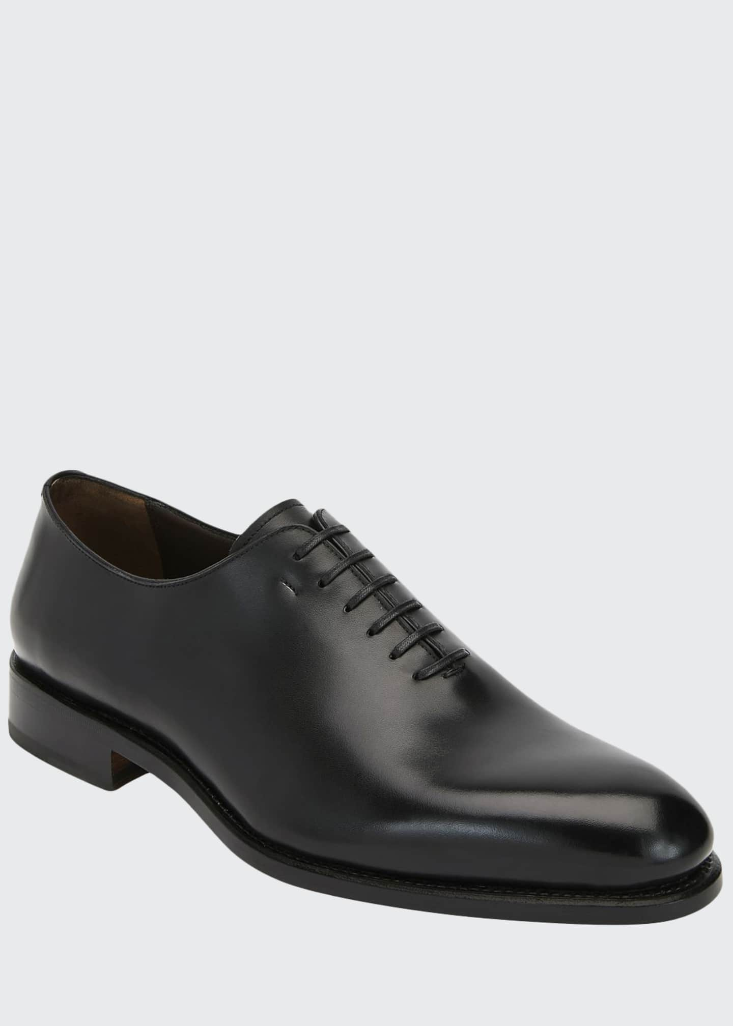 Image 1 of 3: Men's Amsterdam Calfskin Lace-Up Shoes