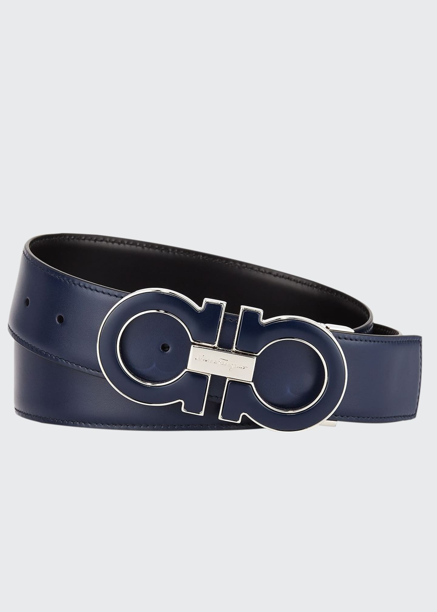 Image 1 of 2: Men's Smooth Calf Reversible Leather Belt