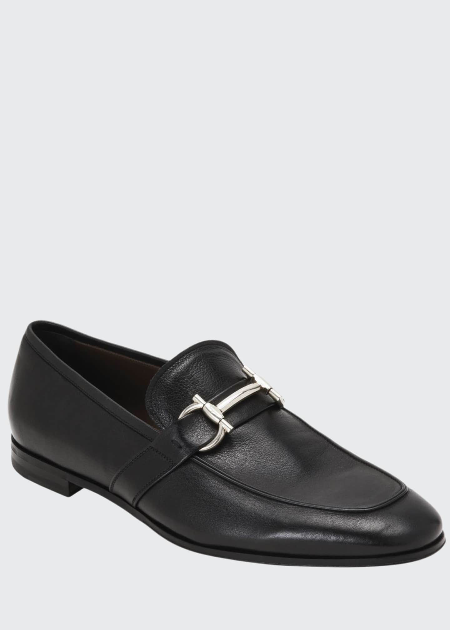 Image 1 of 4: Men's Arlin Leather Slip-On Bit Loafers