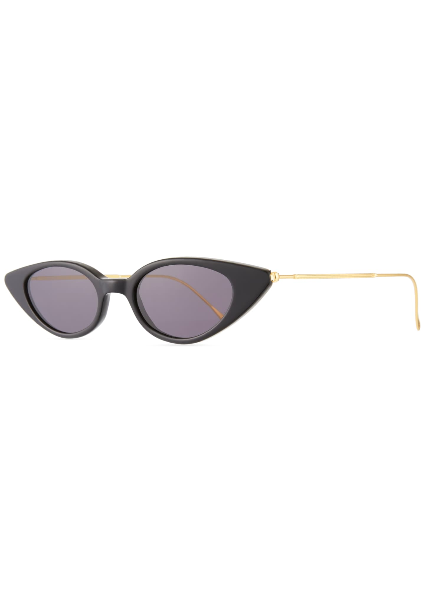 Image 1 of 3: Marianne Cat-Eye Acetate & Steel Sunglasses