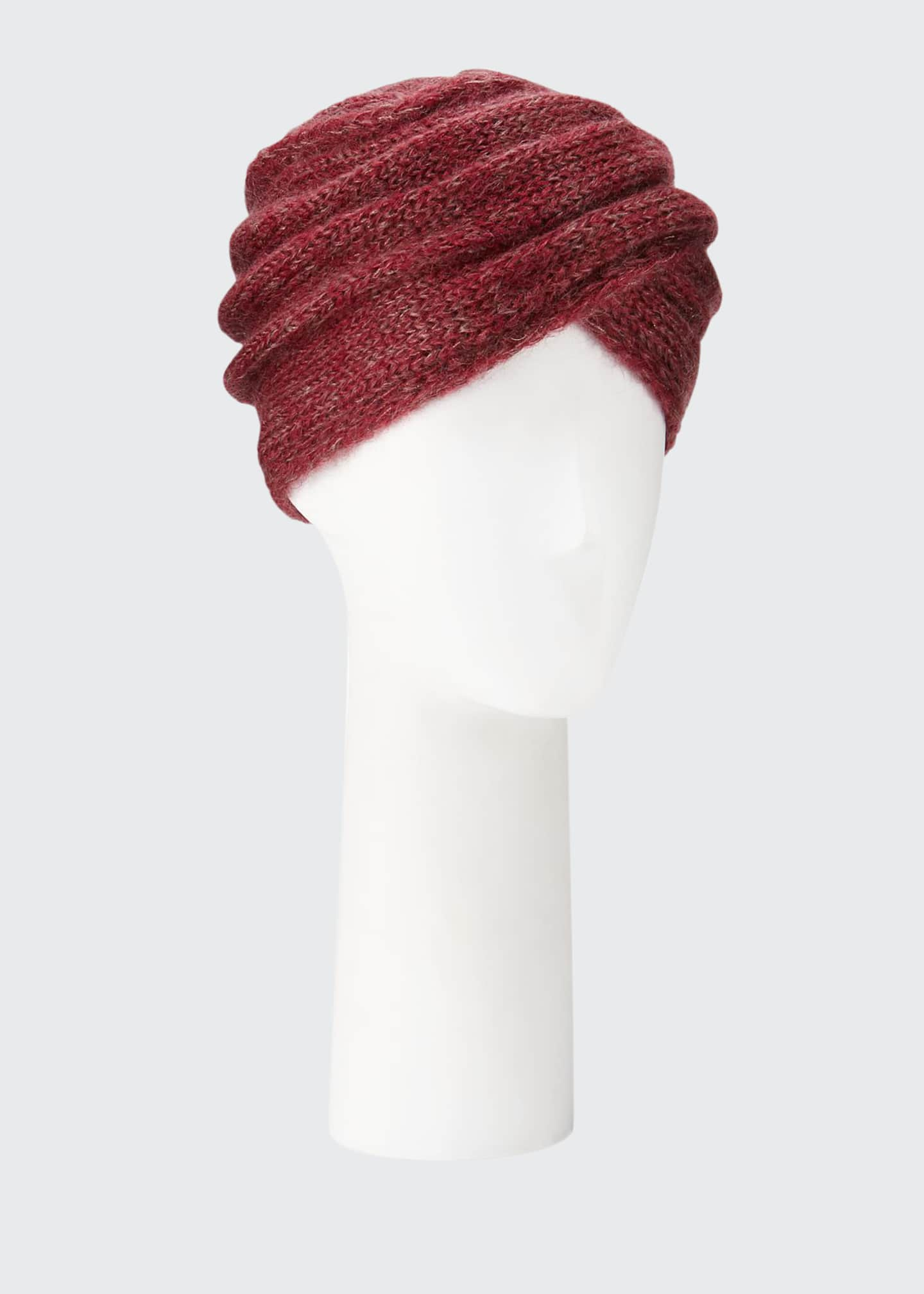 Image 1 of 1: Mohair-Blend Knit Turban