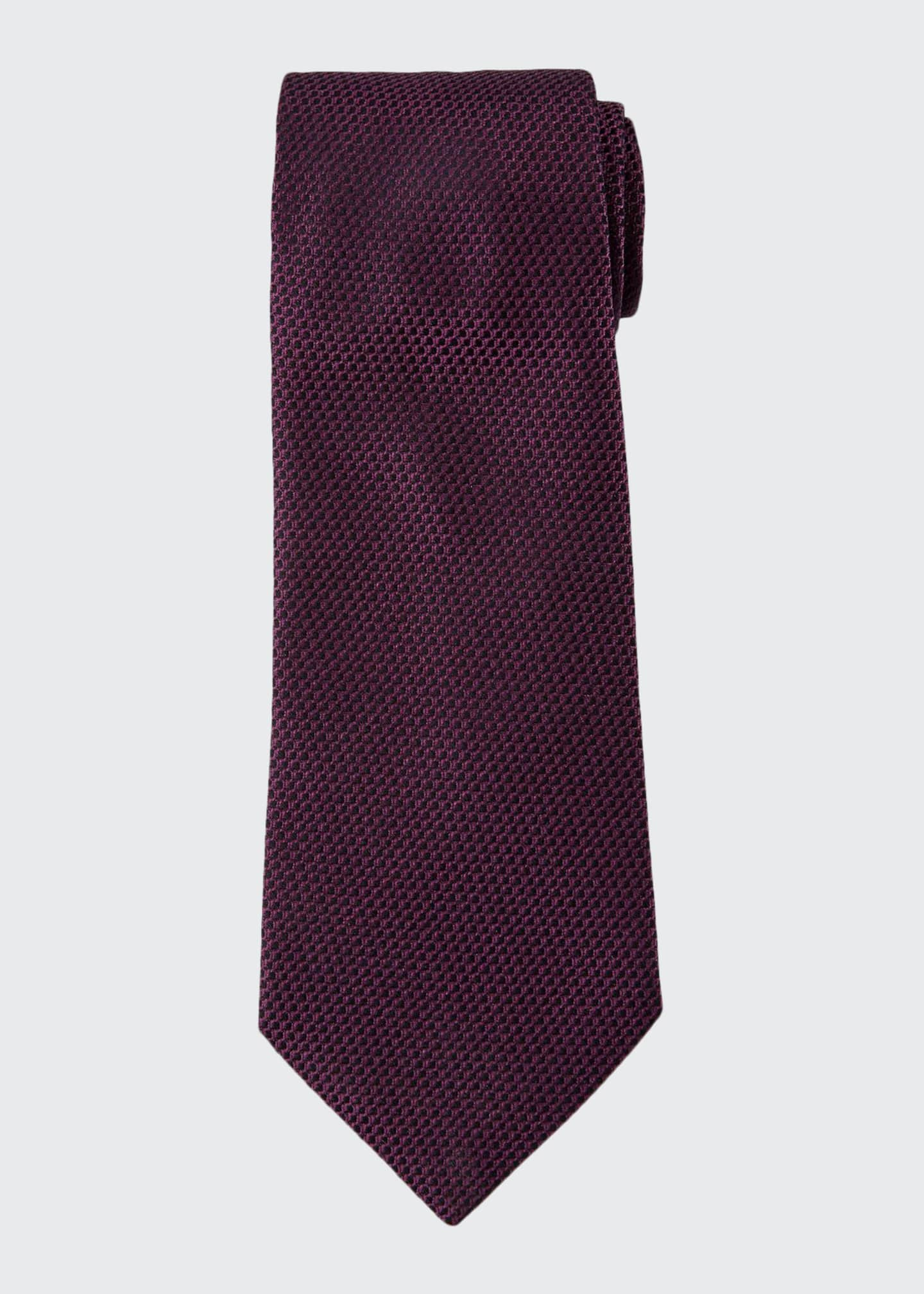 Image 1 of 1: Chain-Link Woven Silk Tie