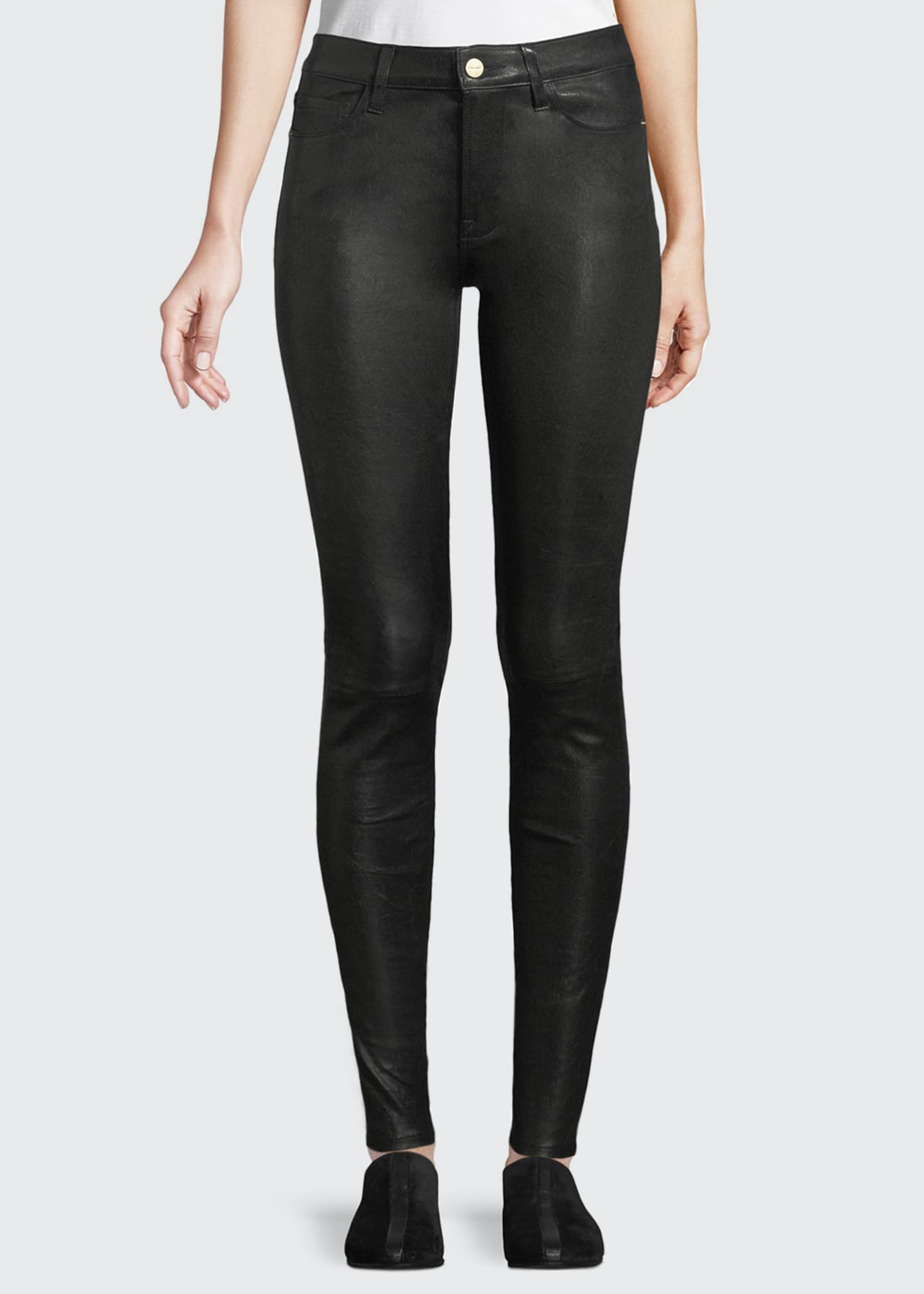 Image 1 of 4: Le High Skinny Leather Pants
