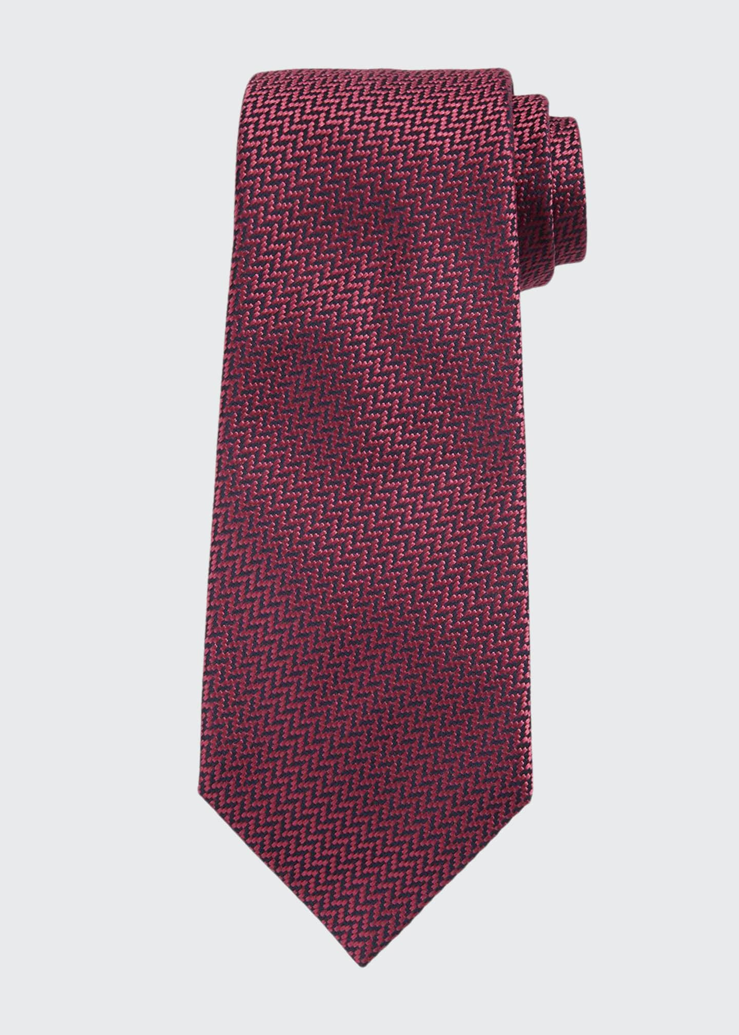 Image 1 of 1: Micro Textured Silk Tie