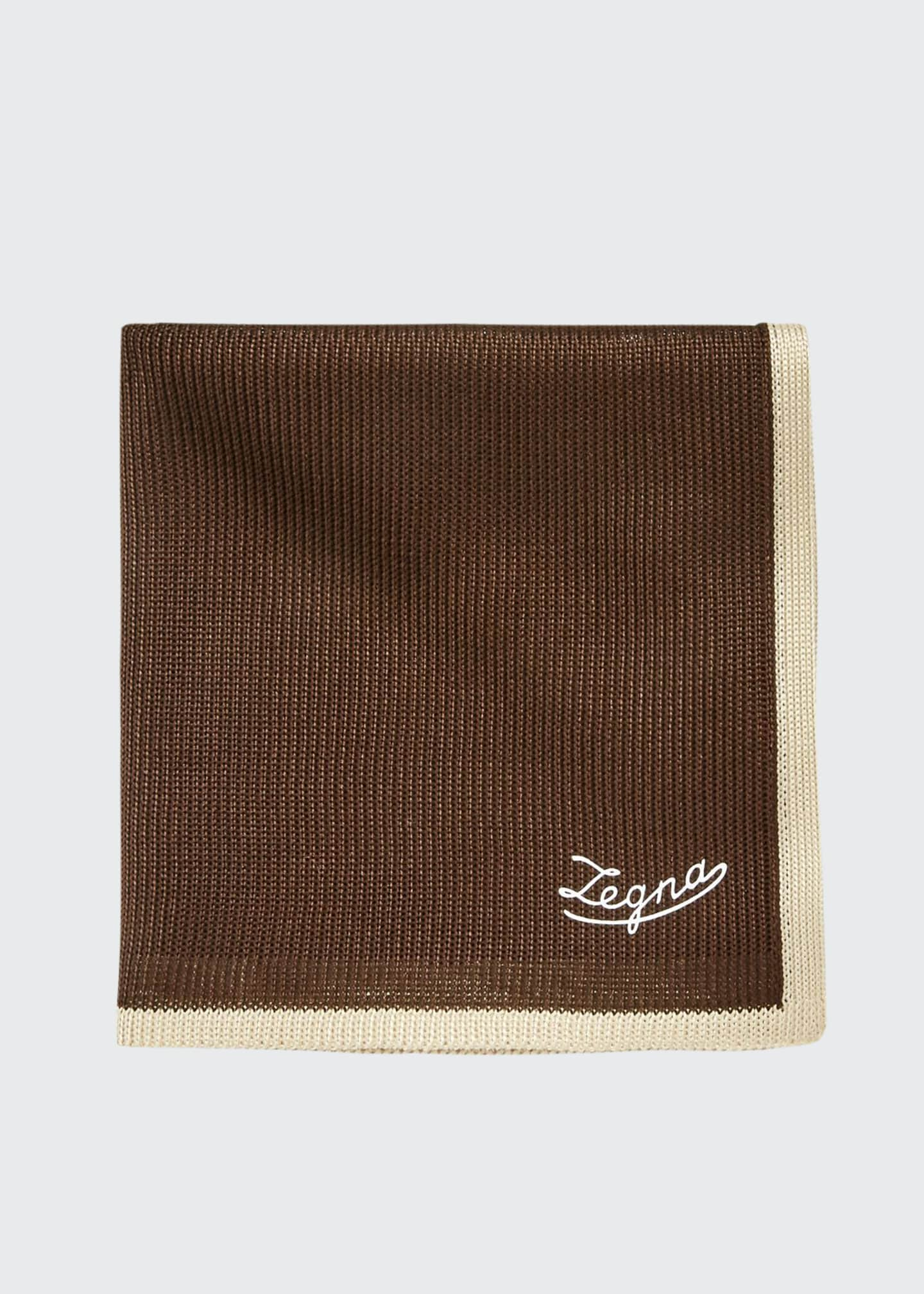 Image 1 of 1: Men's Silk Tipping Pocket Square