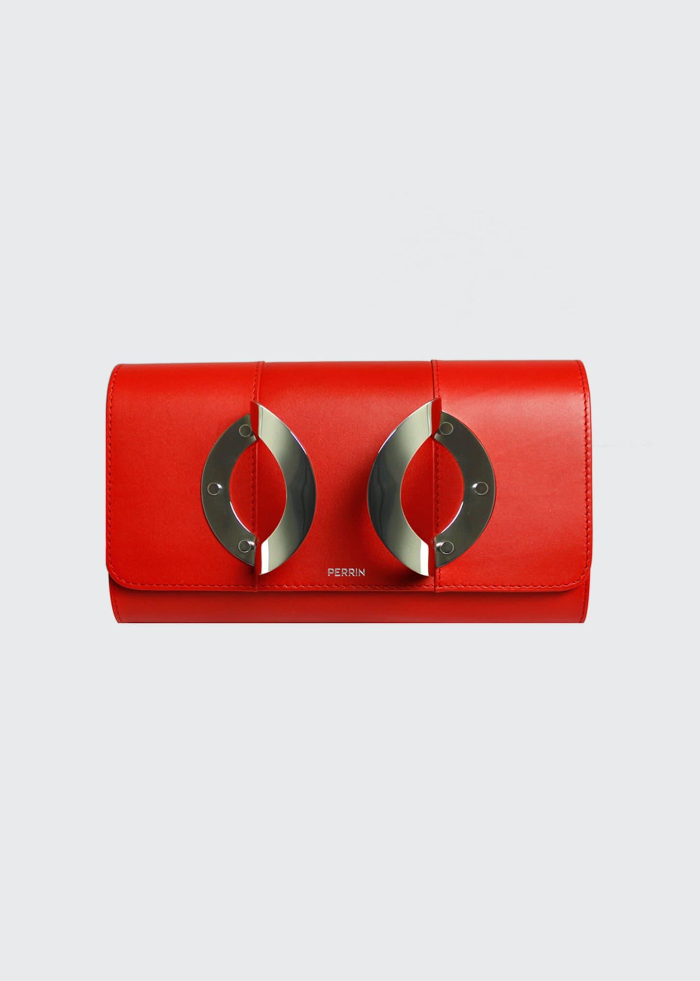 Perrin Paris La Croisiere Leather Clutch Bag