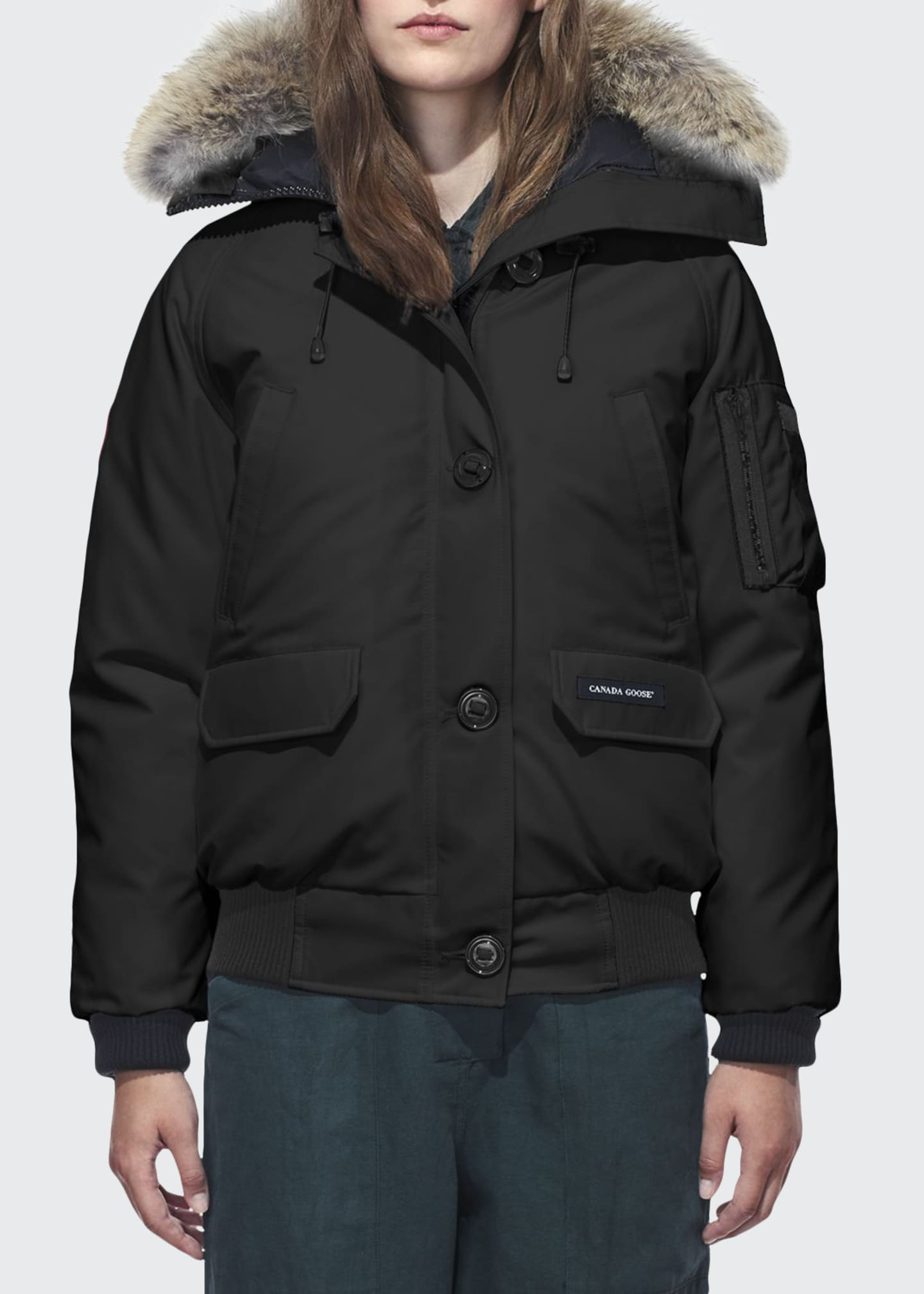 Image 1 of 4: Chilliwack Down Bomber Jacket w/ Fur Hood