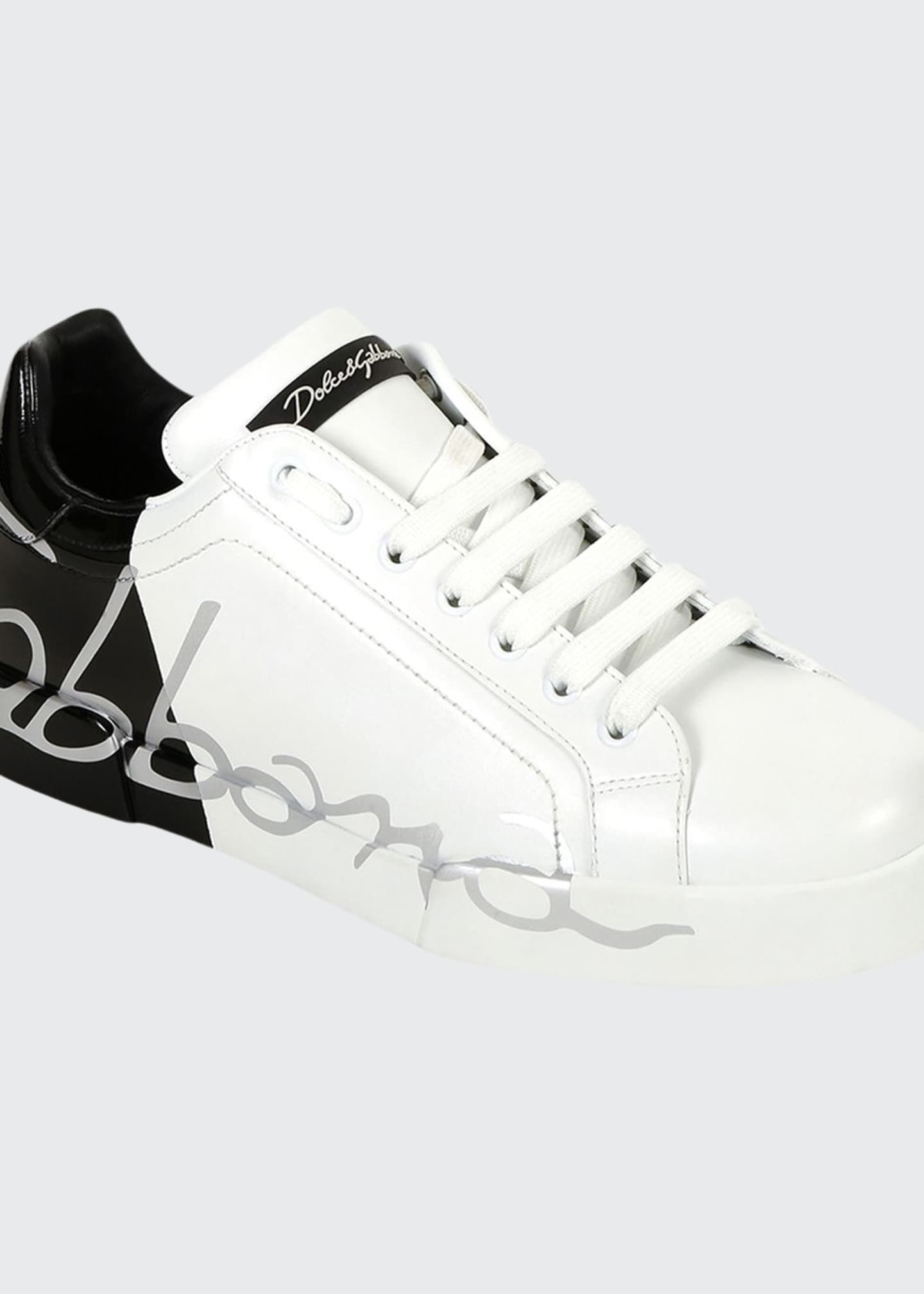 Image 1 of 4: Men's Signature Portofino Logo Sneakers