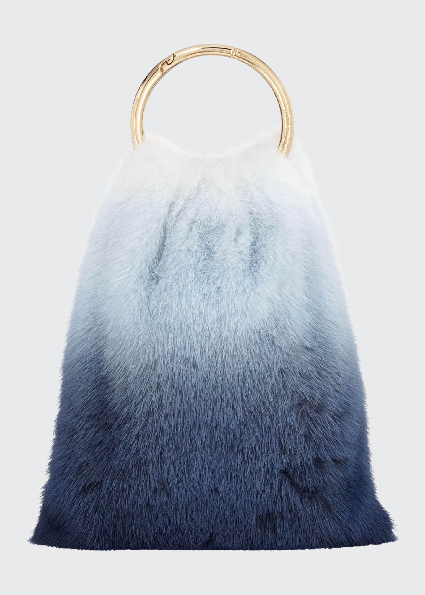 Simonetta Ravizza Furrissima Ombré Mink Top Handle Bag,