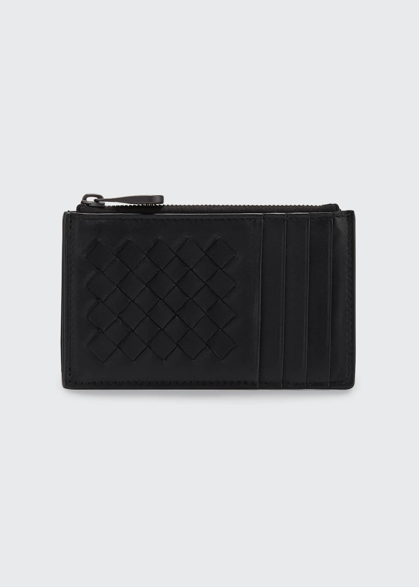 Bottega Veneta Intrecciato Leather Zip Card Case