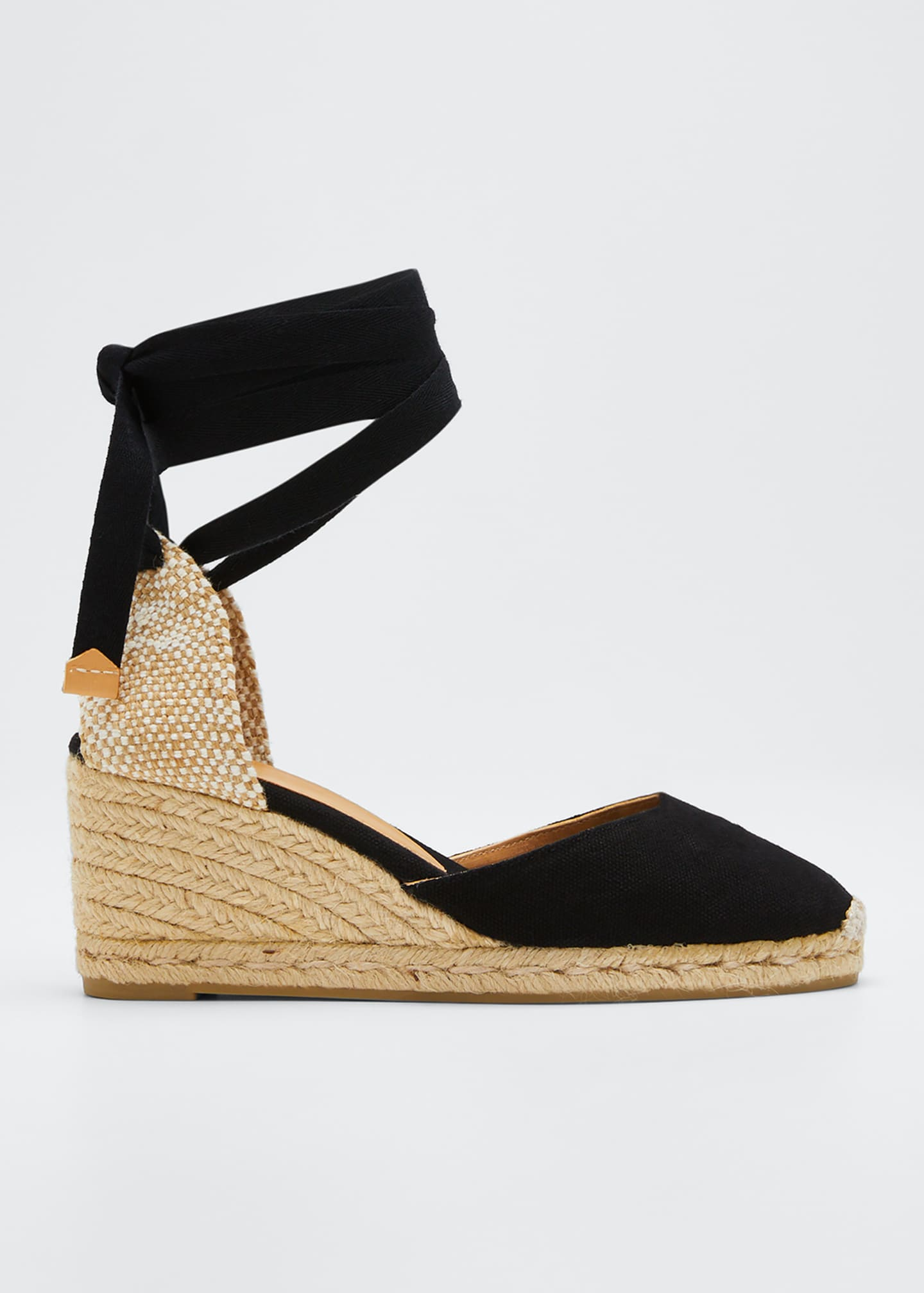 Castaner Leather Wedge Espadrille Pumps