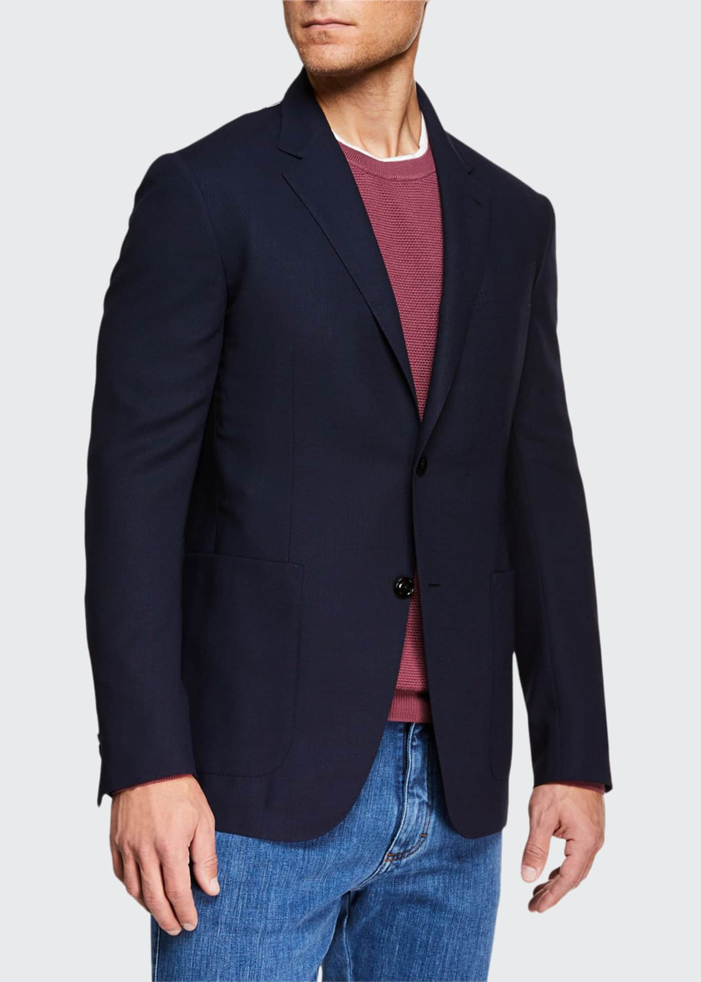 Image 1 of 3: Men's Packaway Wool Two-Button Jacket