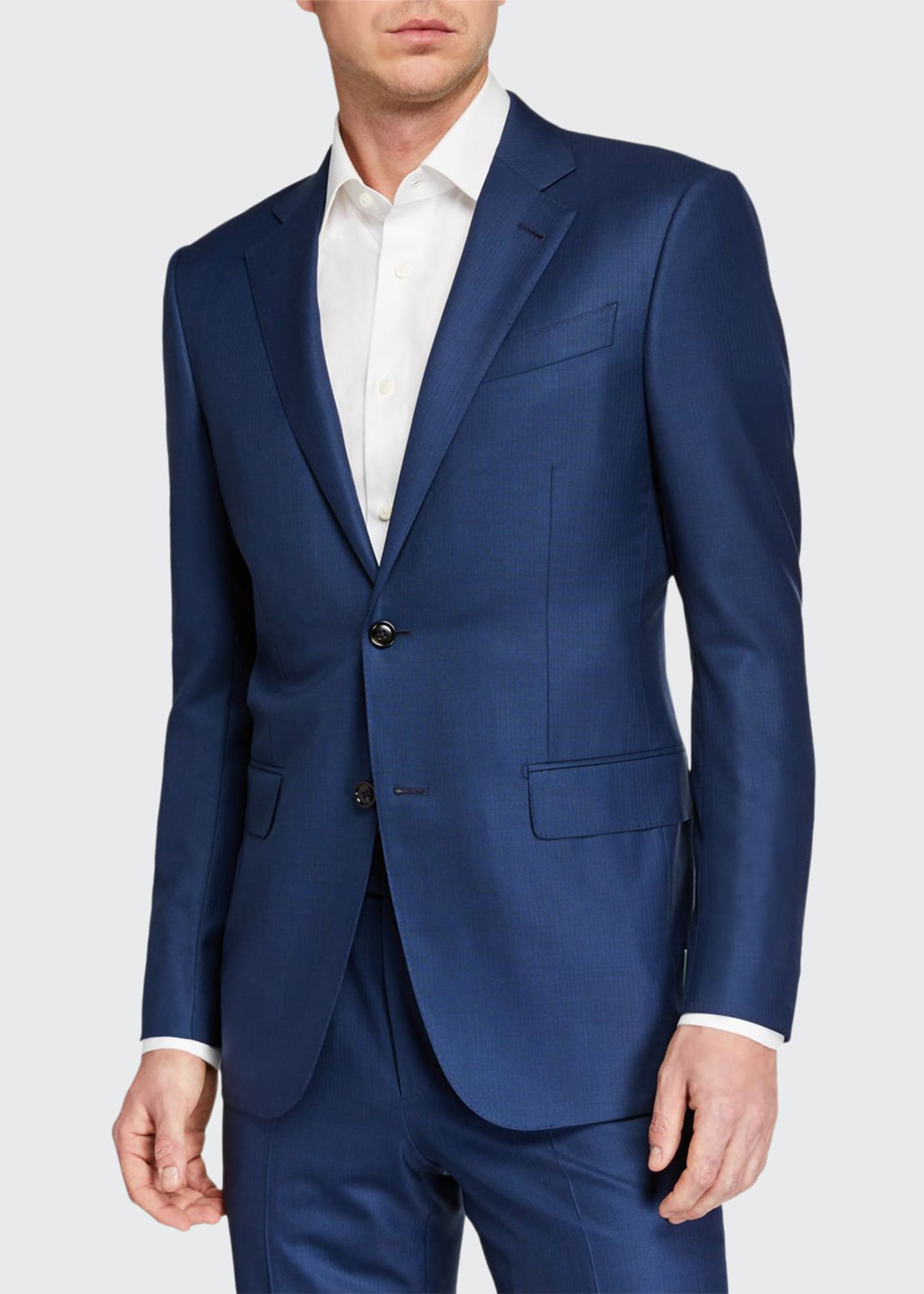 Image 1 of 4: Men's 15milmil15 Two-Piece Tonal Striped Regular-Fit Suit