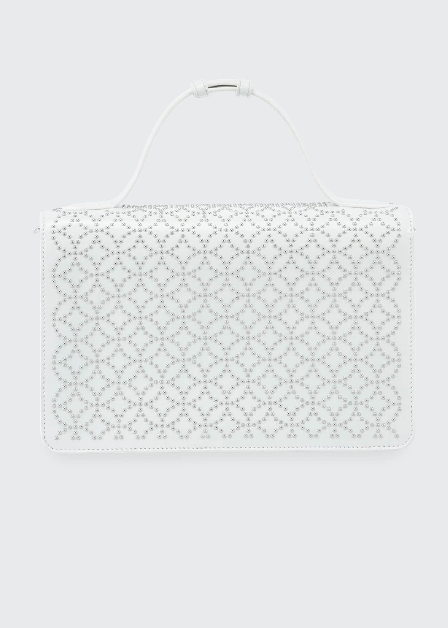 ALAIA Franca Medium Arabesque Crossbody Bag