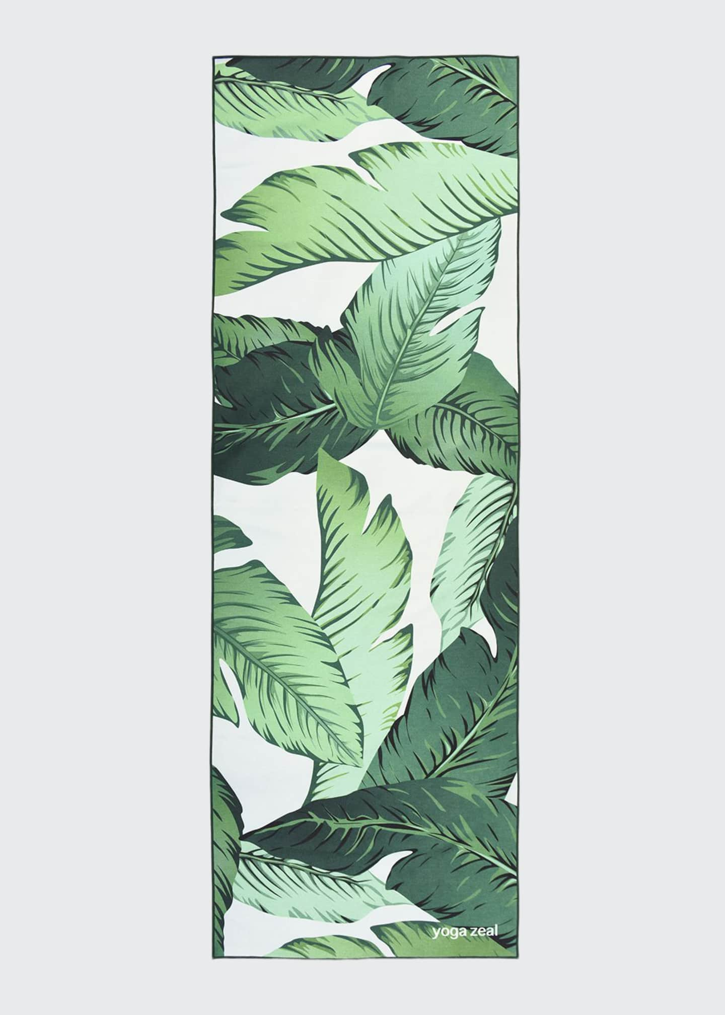 Image 1 of 3: Banana Leaf Printed Yoga Towel