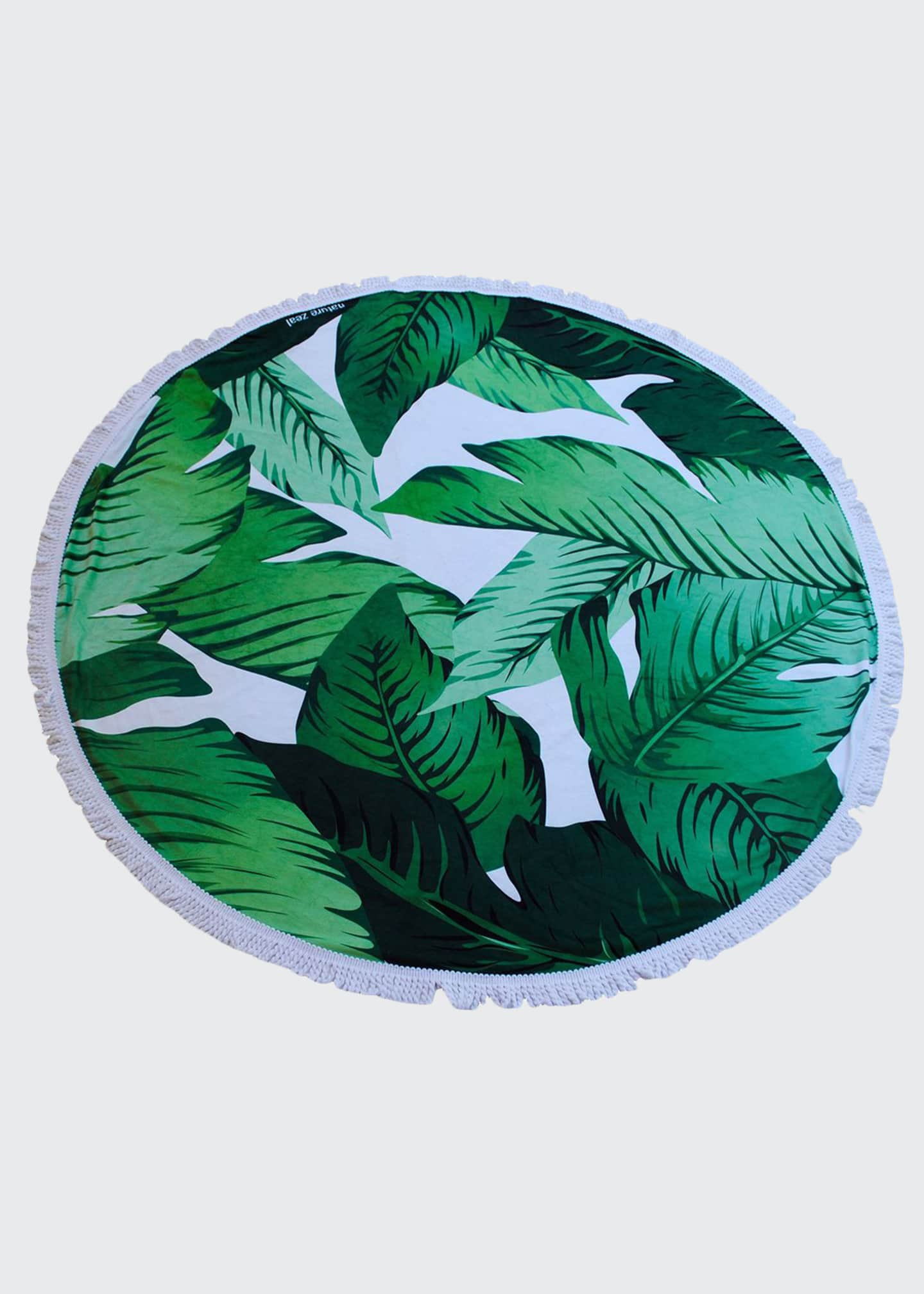 Image 1 of 2: Banana Leaf Round Beach Towel