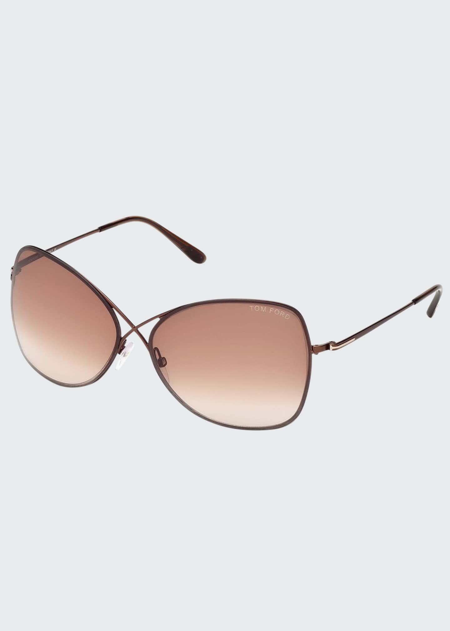 Image 1 of 3: Colette Metal-Frame Butterfly Sunglasses