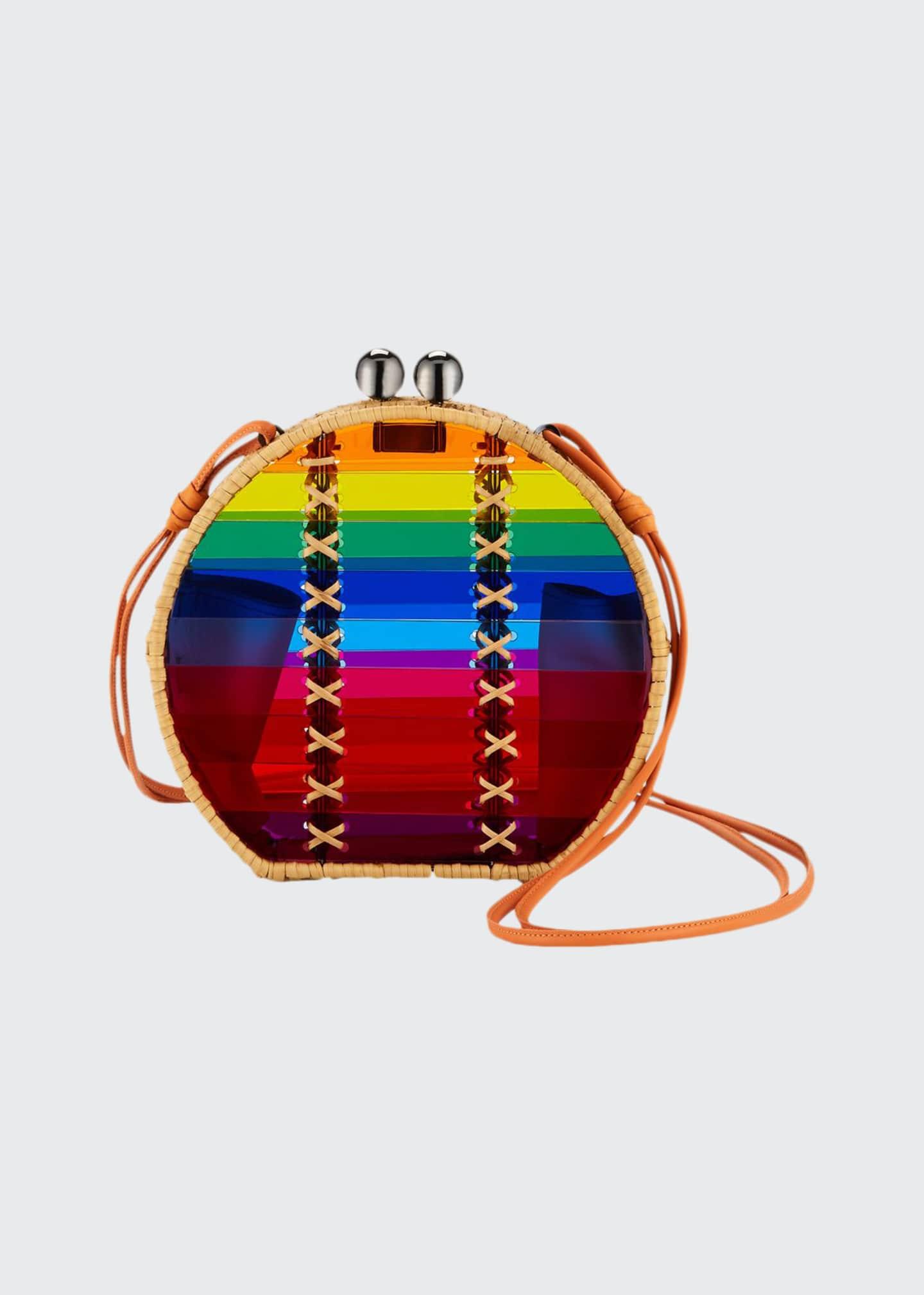 Wai Wai Jabuticaba Rainbow Acrylic Crossbody Bag