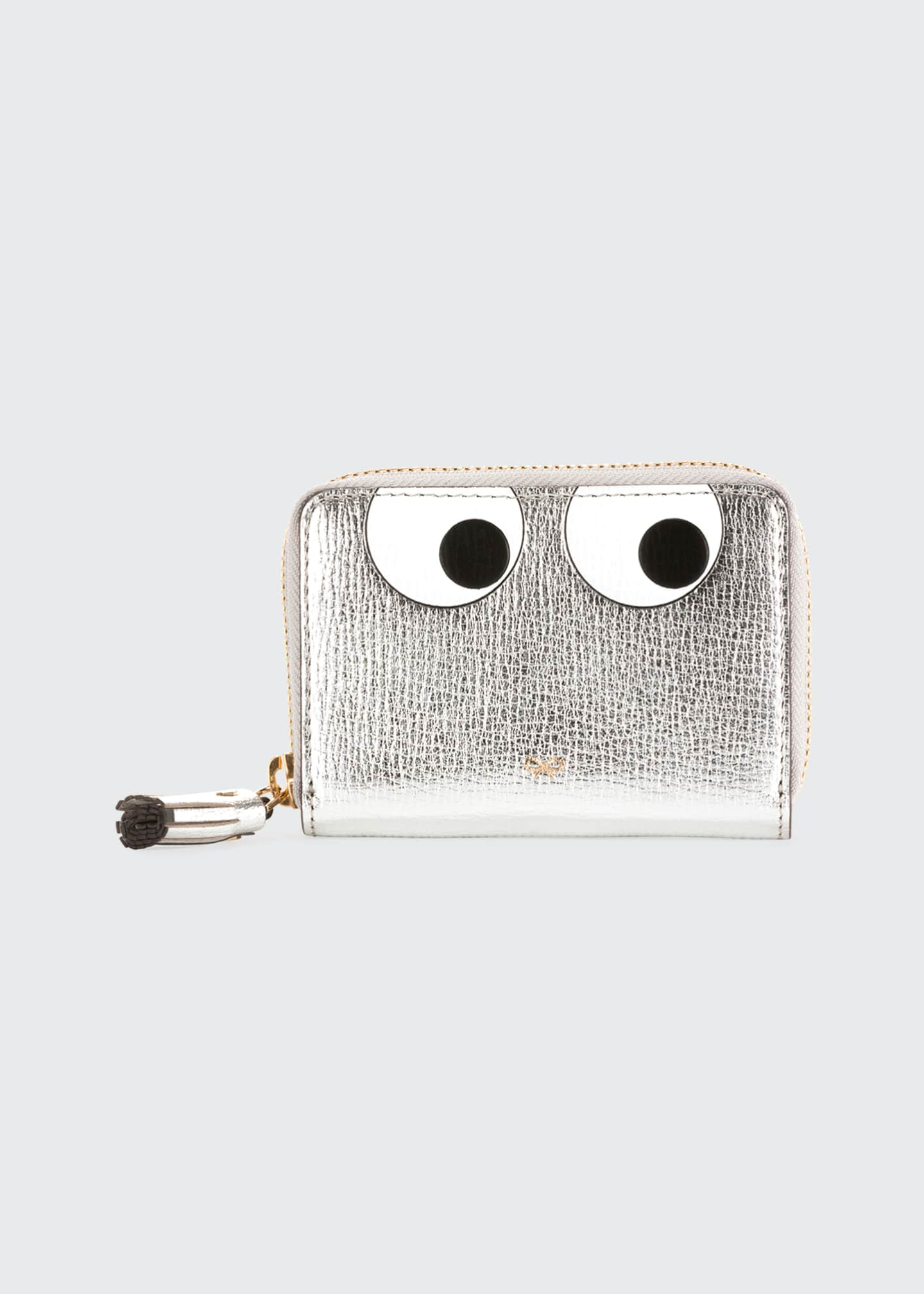 Anya Hindmarch Metallic Eyes Zip Wallet
