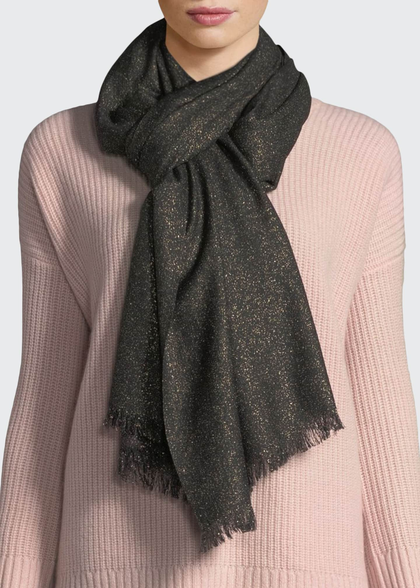 Image 1 of 2: Cashmere Lurex® Evening Wrap