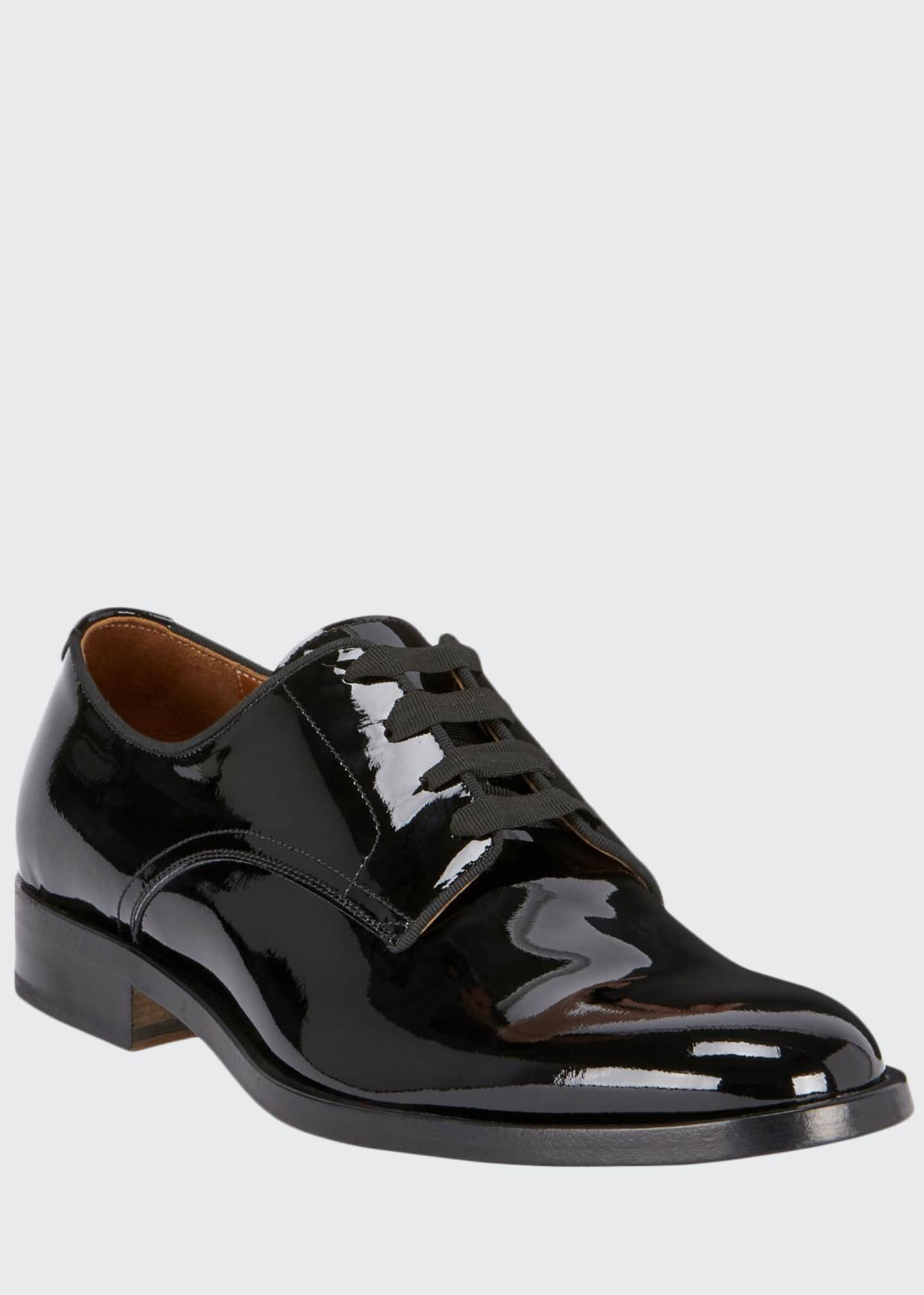 Image 1 of 3: Men's Rider Lace-Up Derby Shoes in Leather