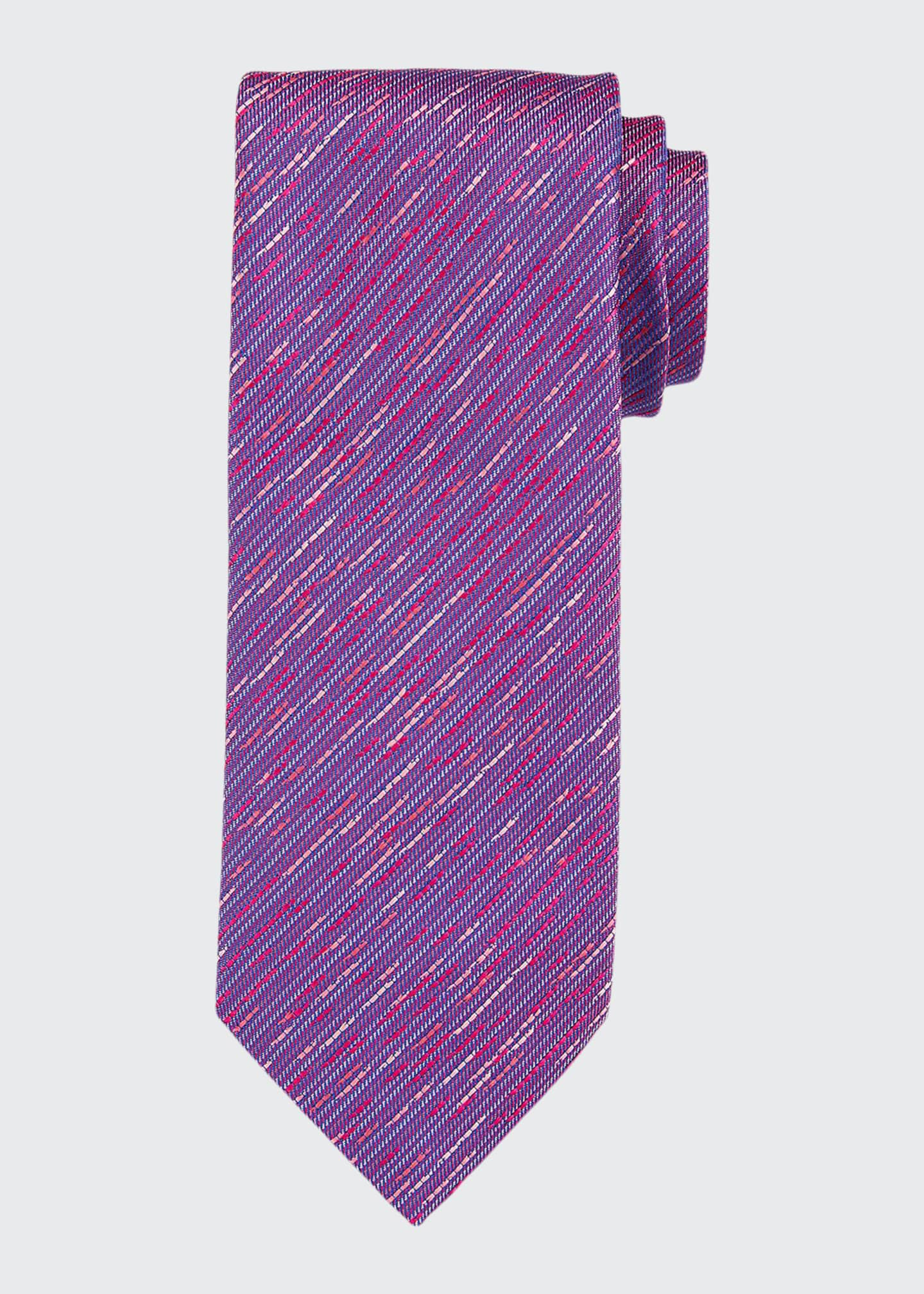 Image 1 of 1: Contrast Thread Silk Tie