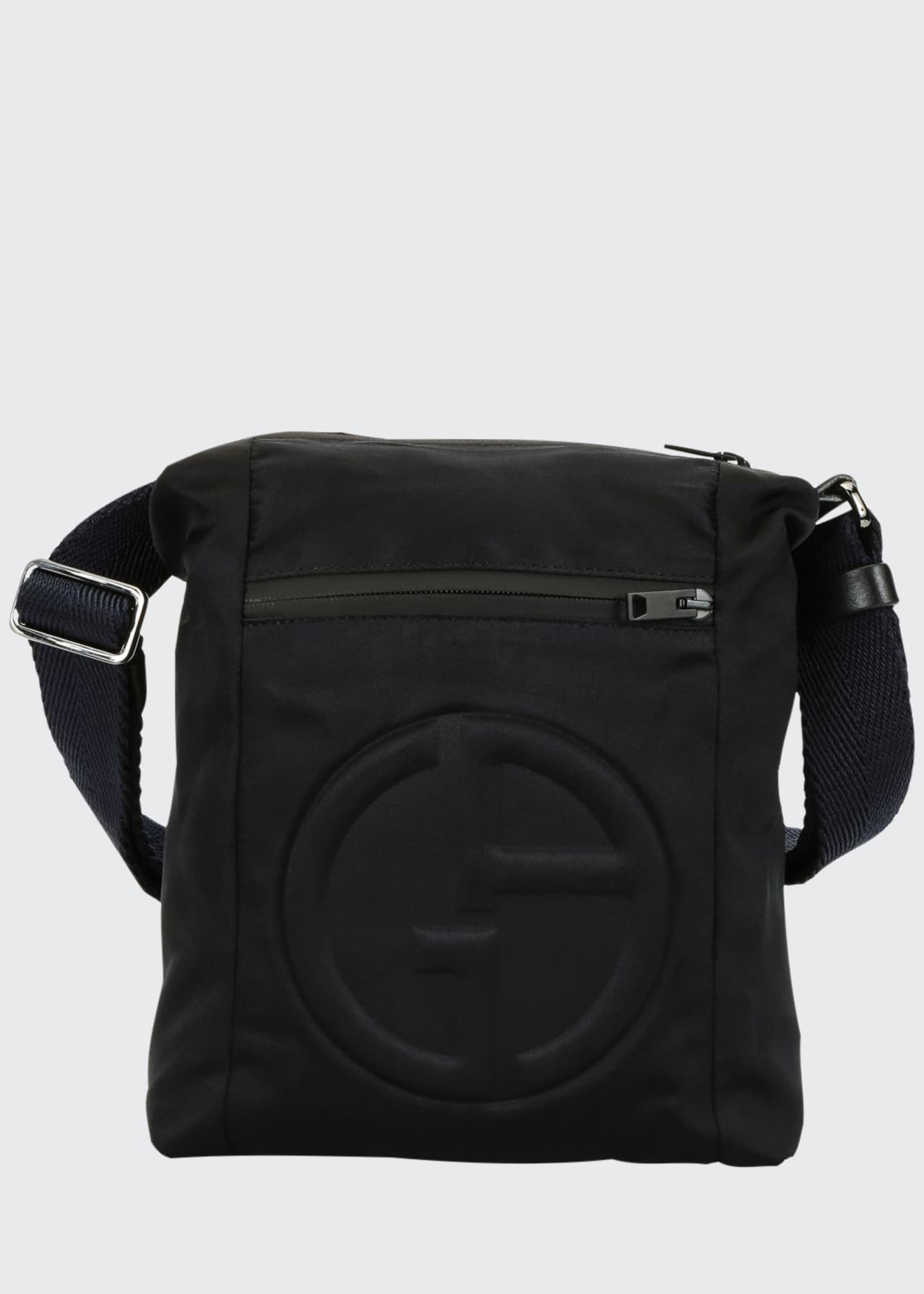 Image 1 of 4: Men's Logo-Embossed Crossbody Bag