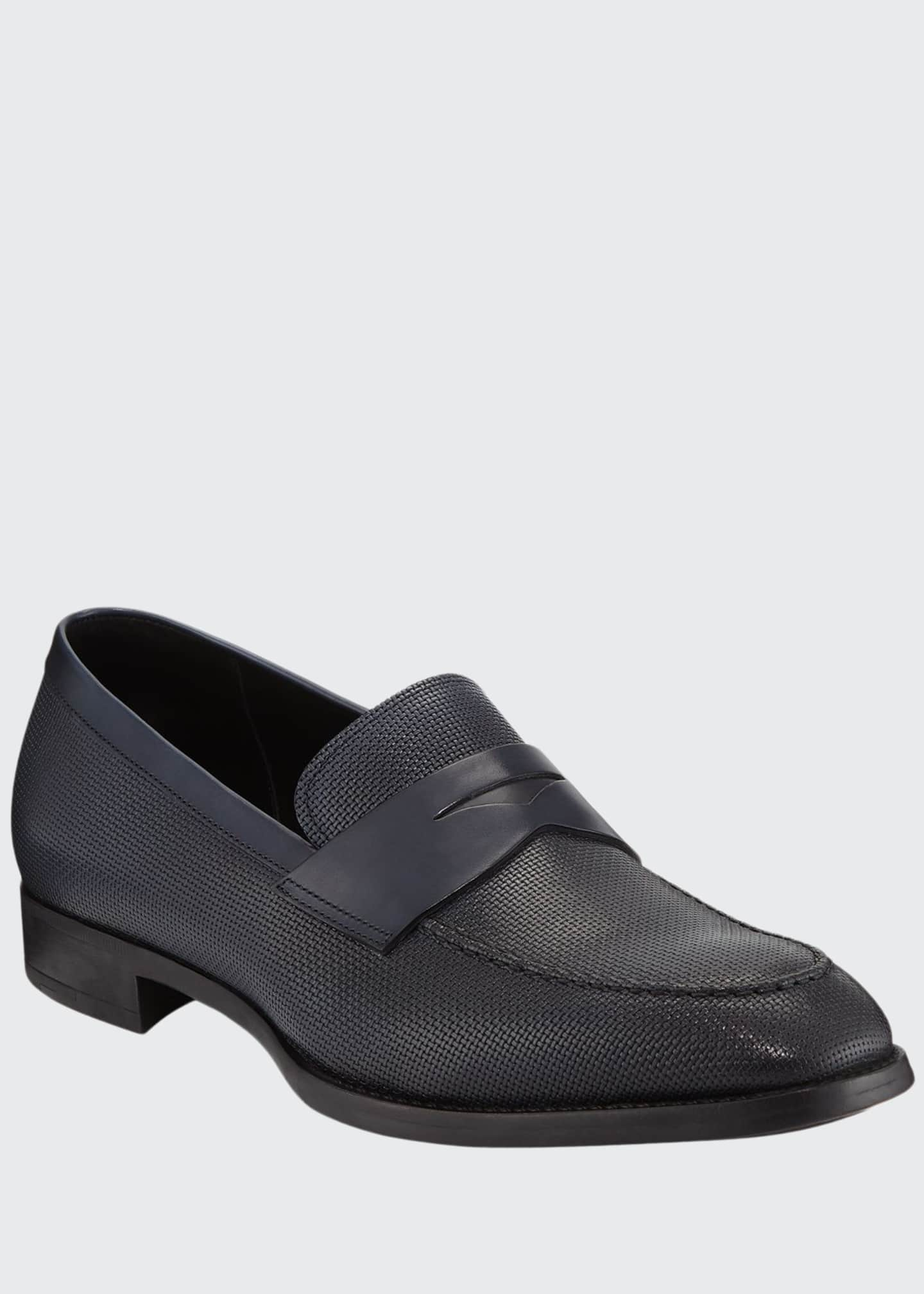 Image 1 of 3: Men's Leather Penny Loafers