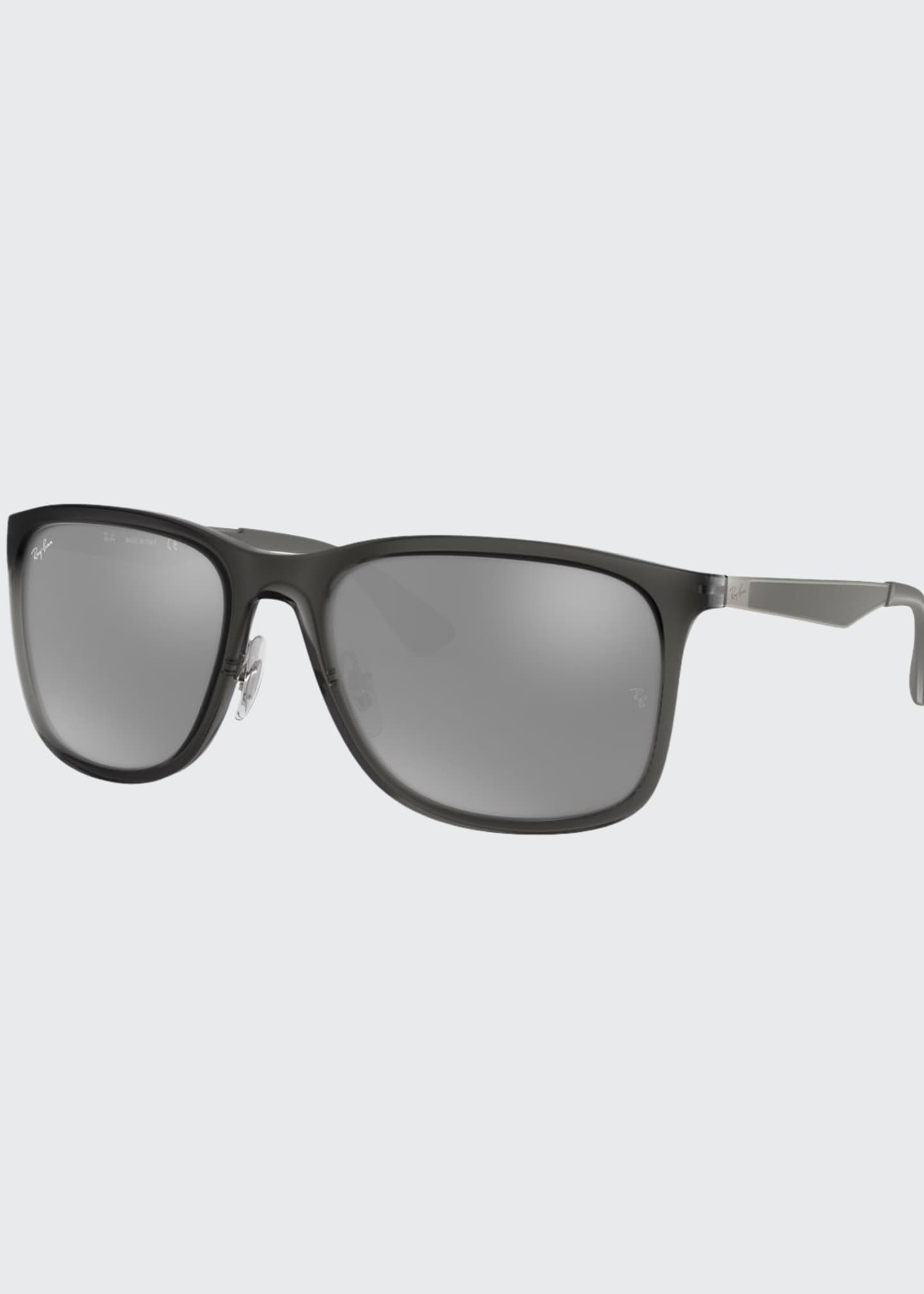 Image 1 of 2: Men's Square Mirrored Propionate Sunglasses