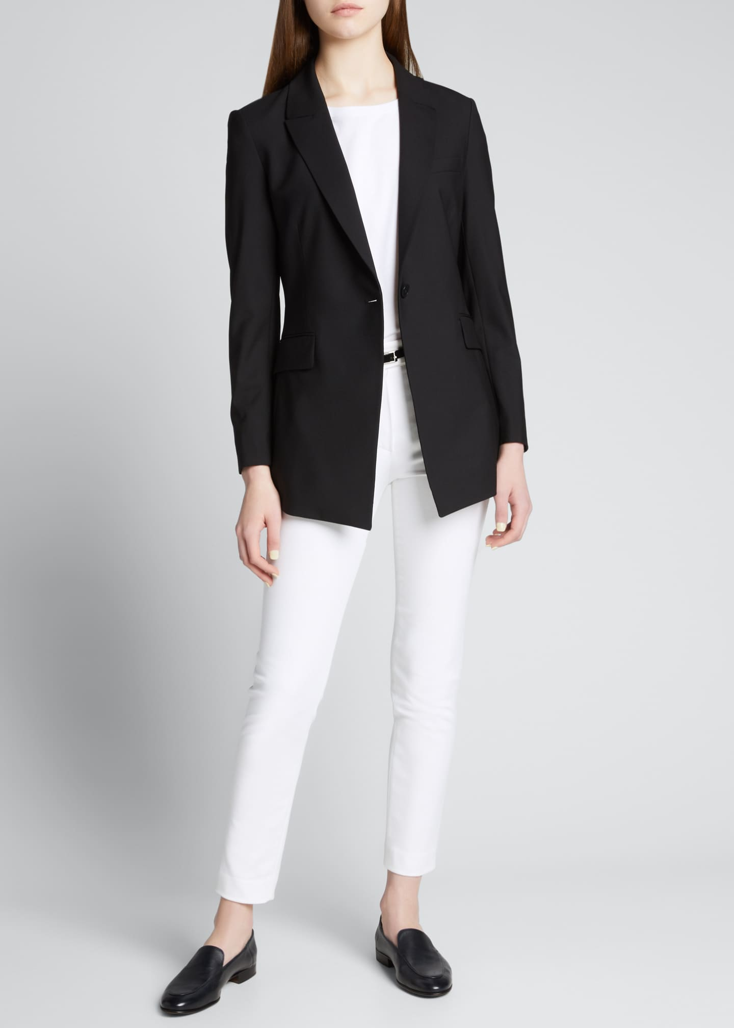 Image 1 of 1: Etiennette One-Button Good Wool Suiting Jacket