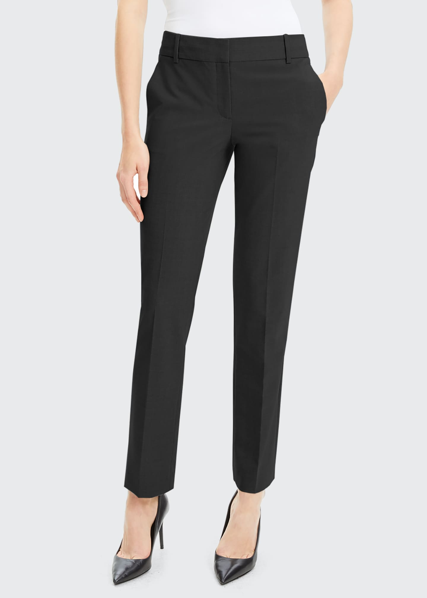 Image 1 of 1: Straight-Leg Good Wool Suiting Trousers
