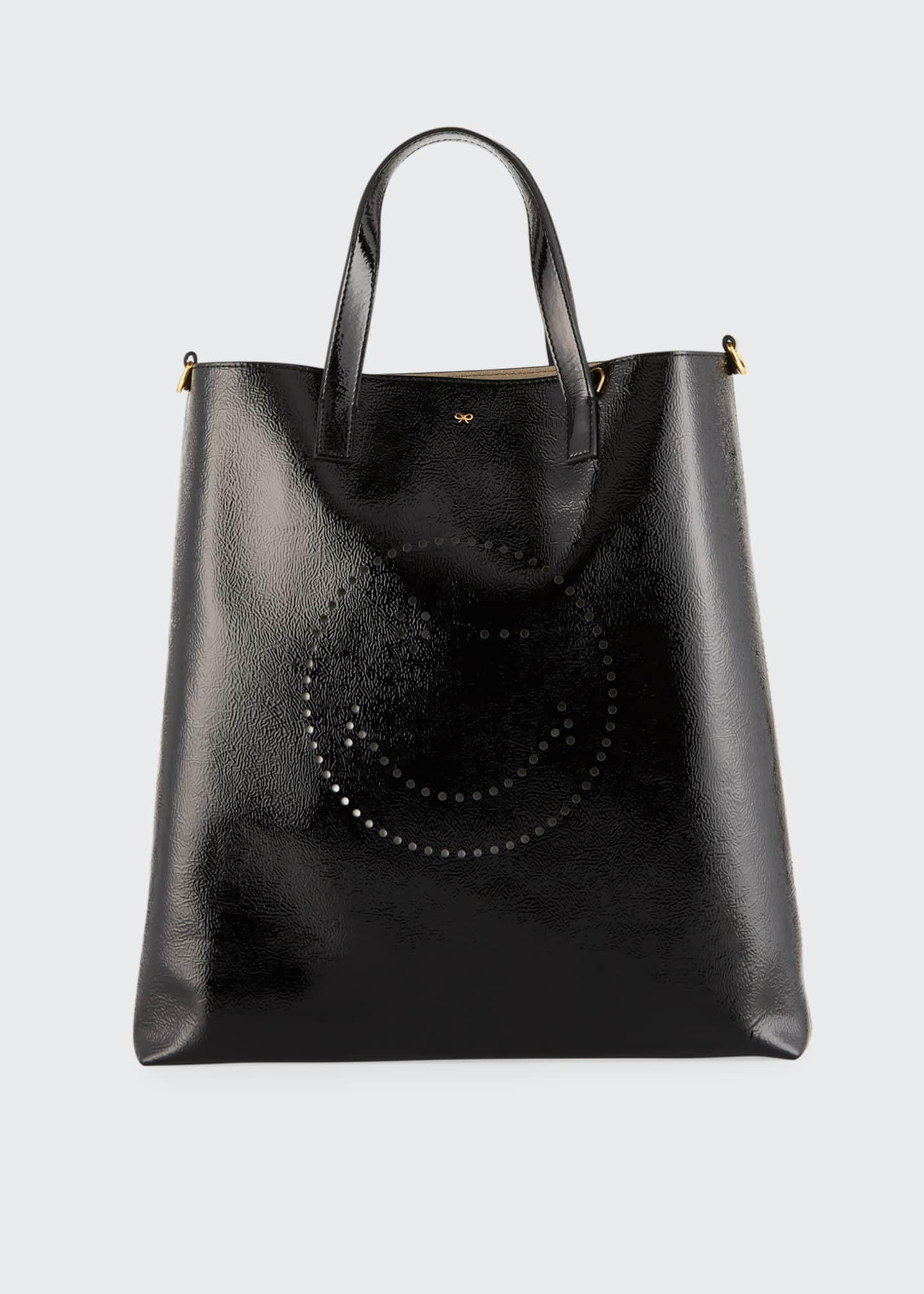 Anya Hindmarch Perforated Wink Shiny Tote Bag