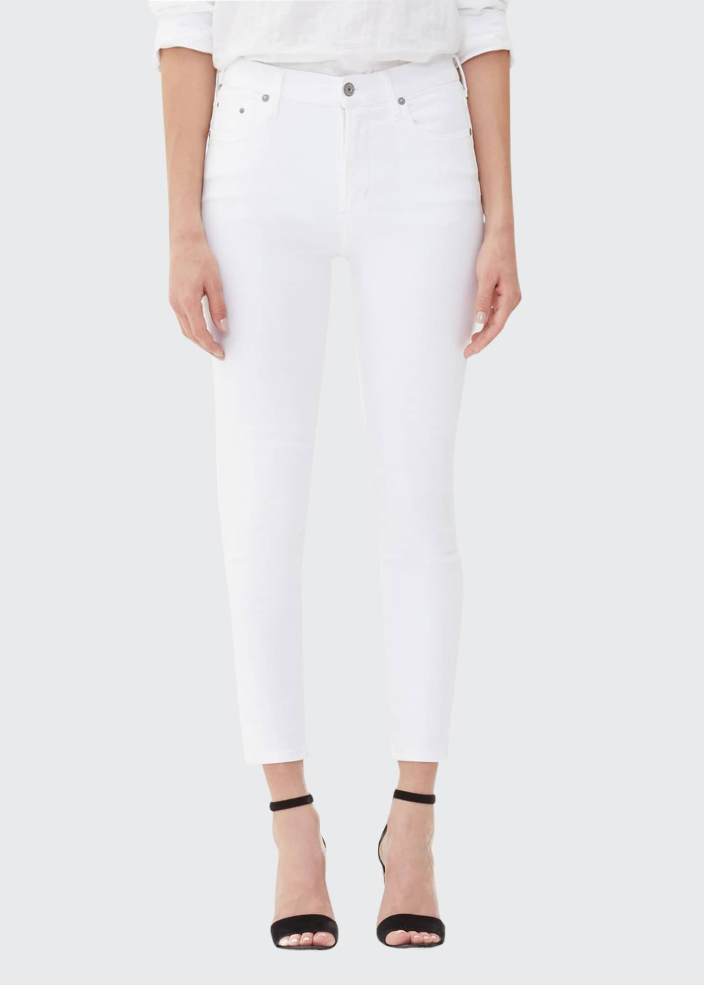 Image 1 of 2: Rocket Crop High-Rise Skinny Jeans, White Sculpt