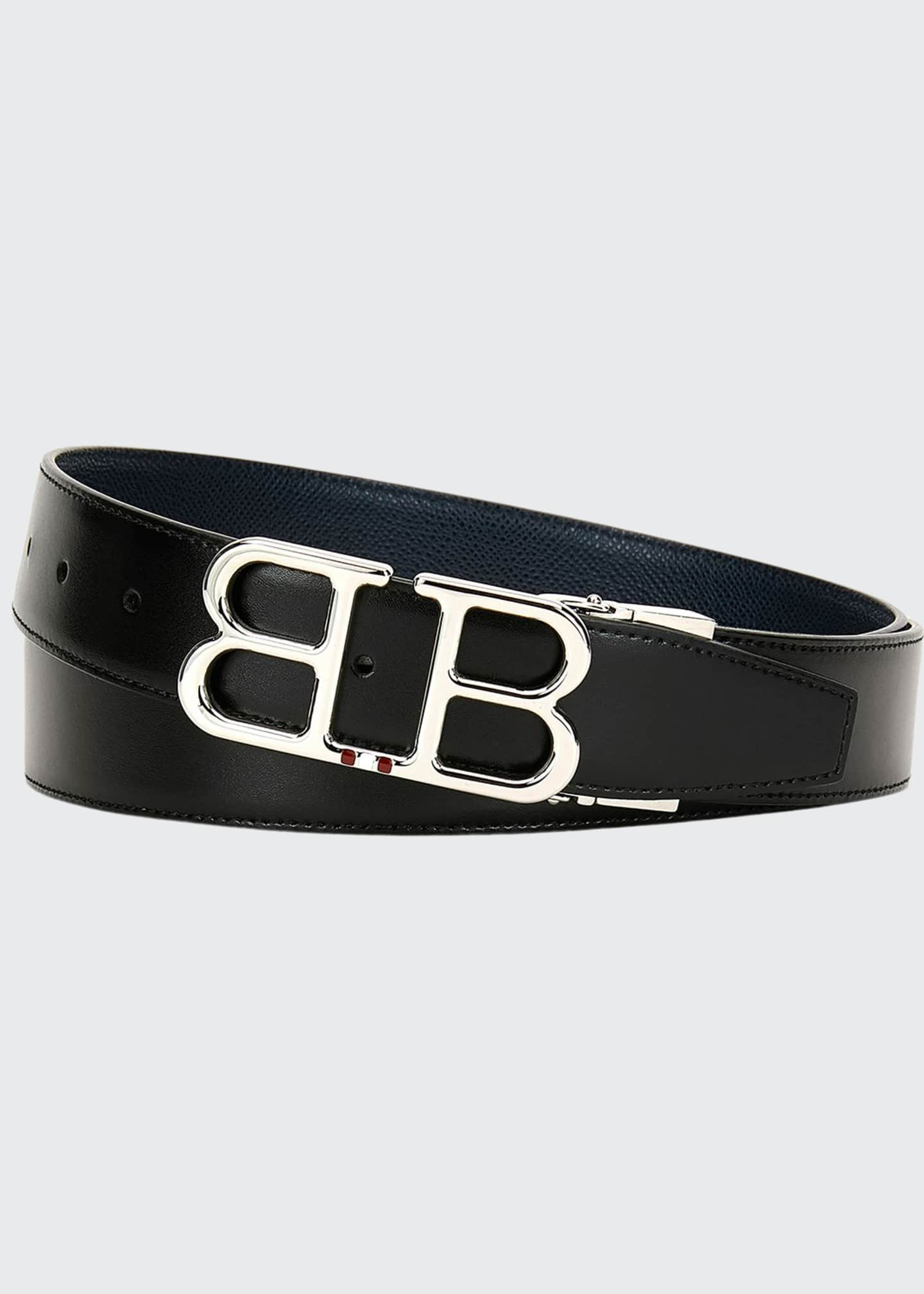Image 1 of 1: Men's Britt B-Buckle Belt - Chrome Hardware