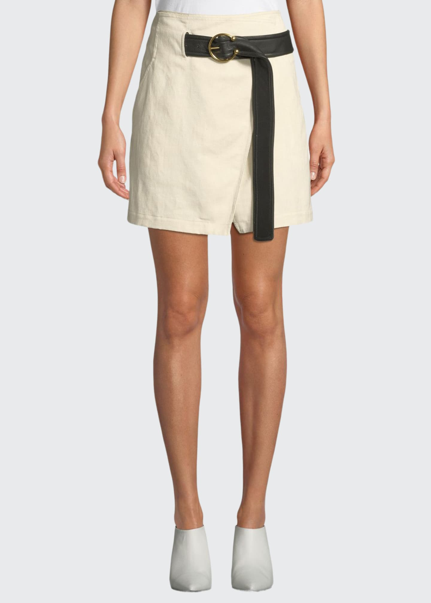 Image 1 of 3: Cami Belted Wrap Skirt