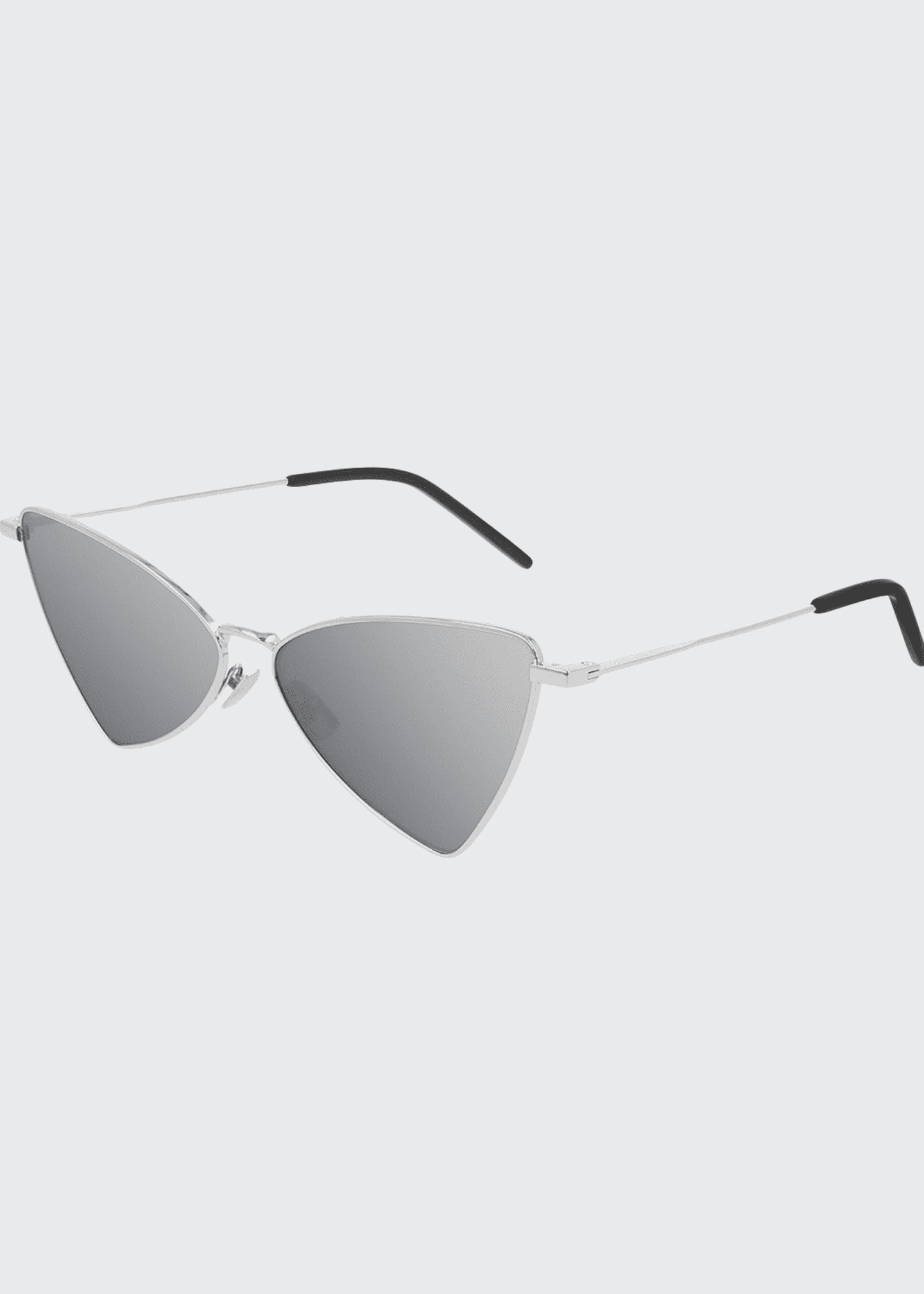 Image 1 of 1: Mirrored Metal Cat-Eye Sunglasses