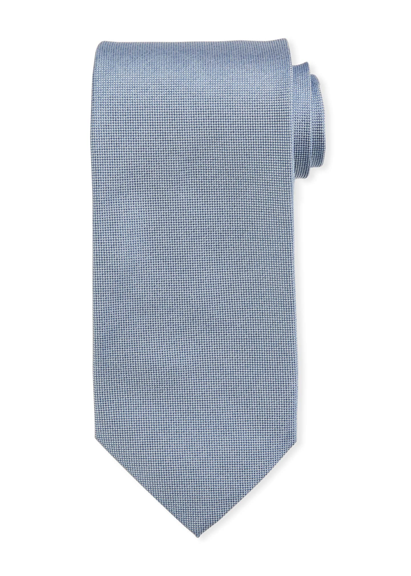Image 1 of 1: Men's Solid Silk Tie