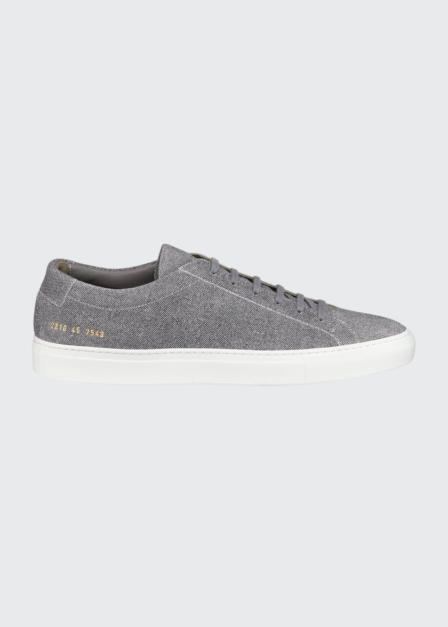 Image 1 of 4: Men's Achilles Patterned Suede Low-Top Sneakers