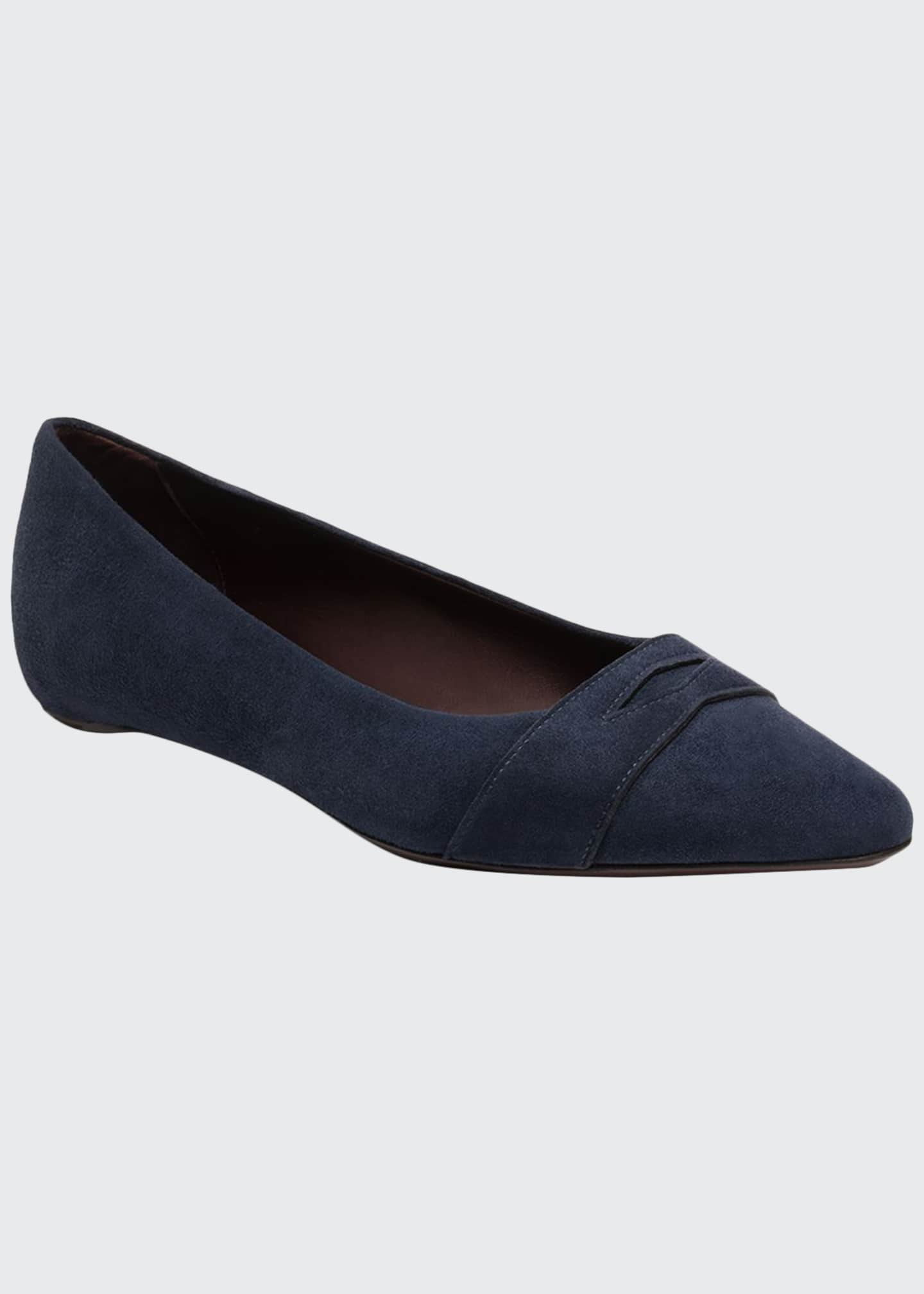 Bougeotte Suede Keeper Ballet Flats, Dark Blue
