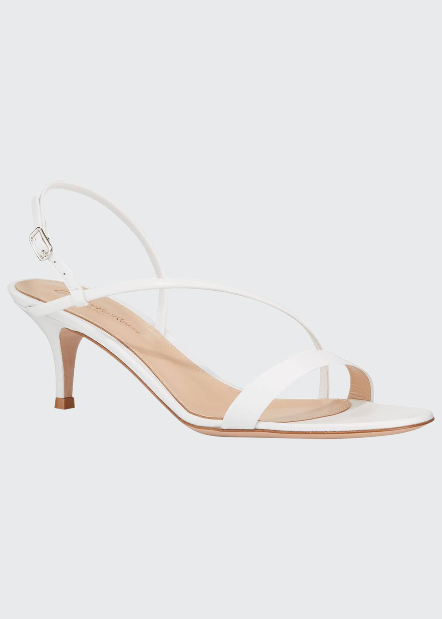 Image 1 of 3: Strappy Leather Slingback Sandals
