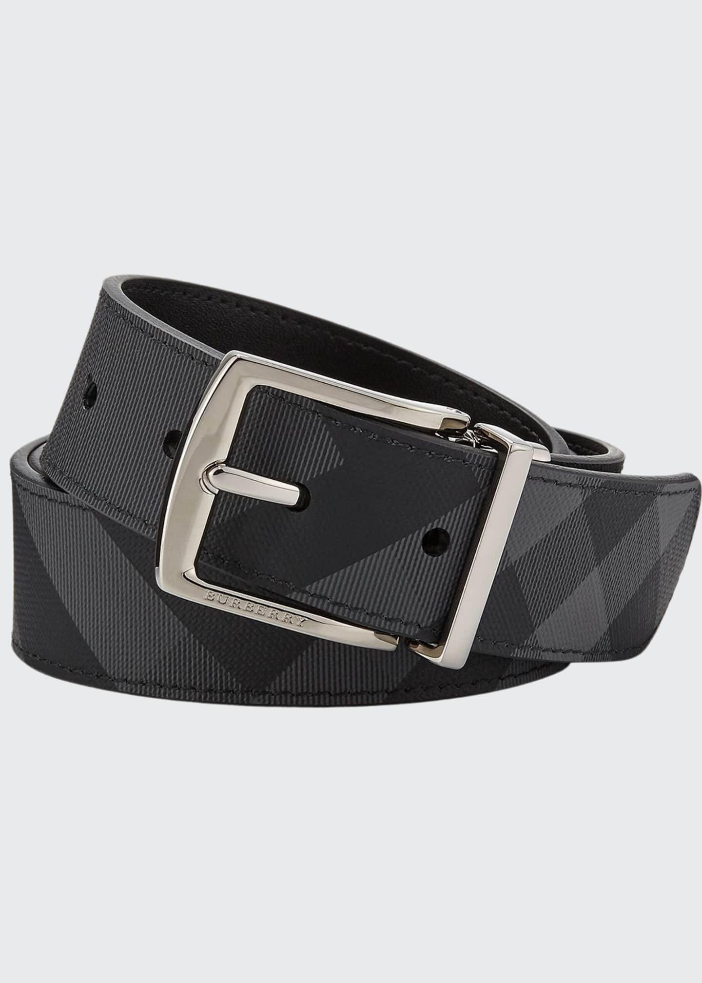 Image 1 of 1: Men's Clarke Two-Tone Check Belt