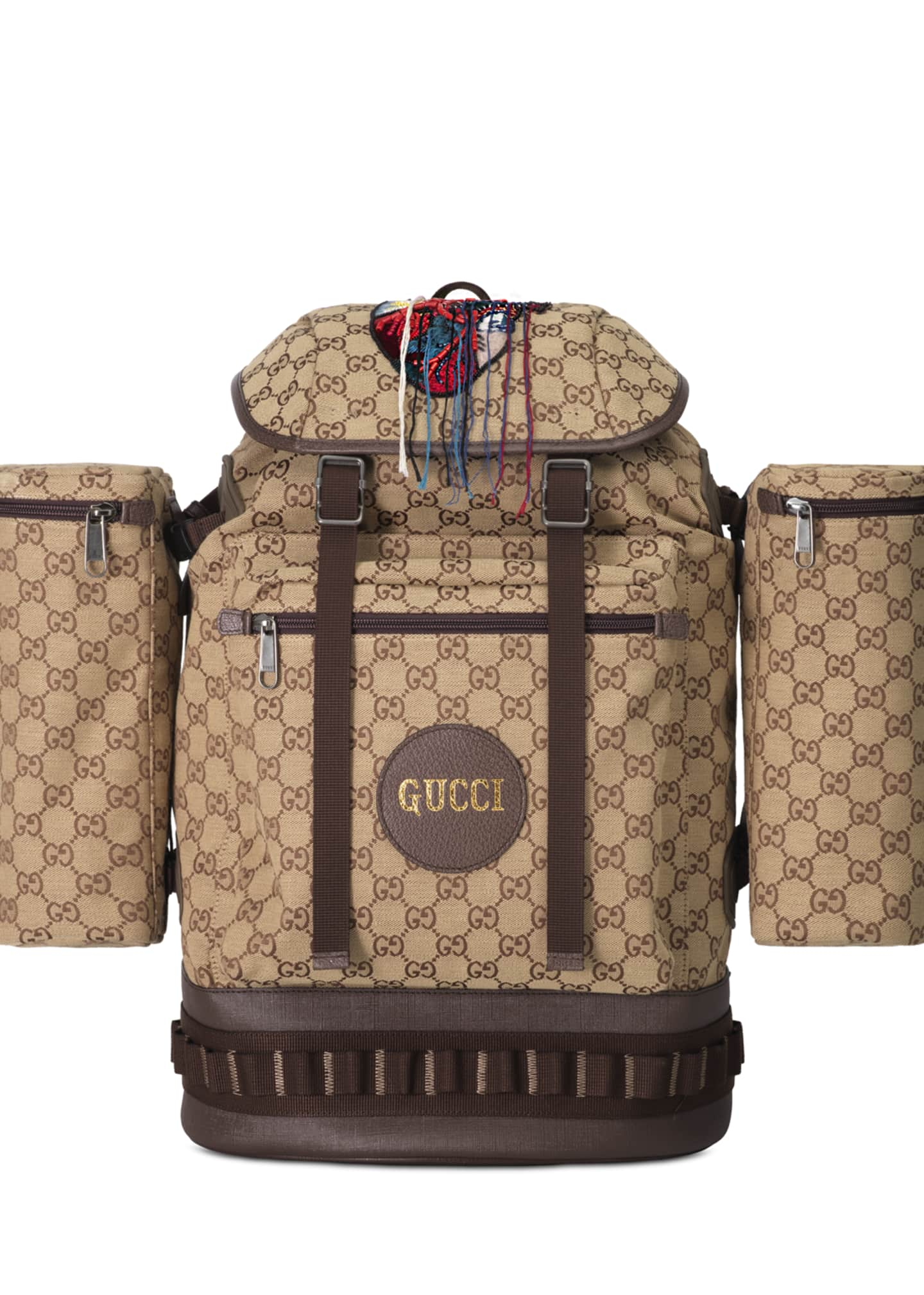Gucci Men's GG Canvas Flap-Top Backpack