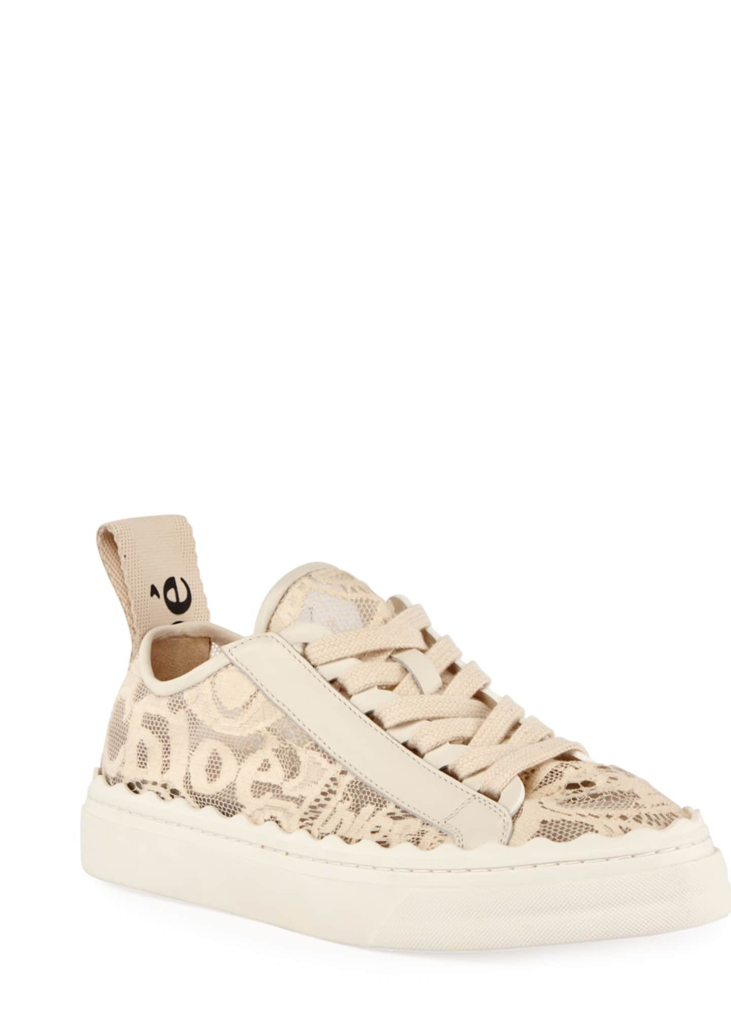 Chloe Lauren Logo Lace Low-Top Sneakers